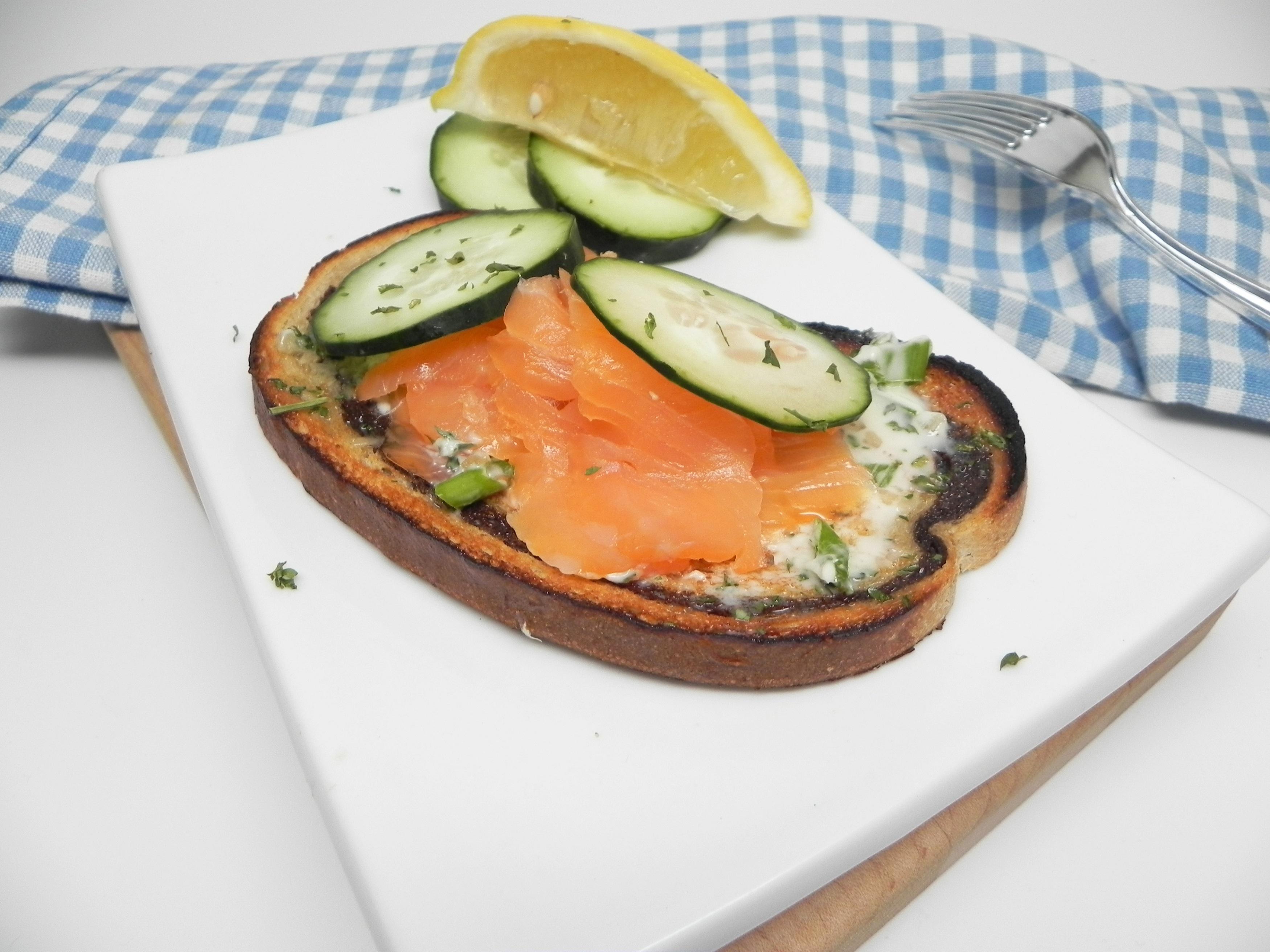 Elegant Open-Faced Smoked Salmon Sandwiches