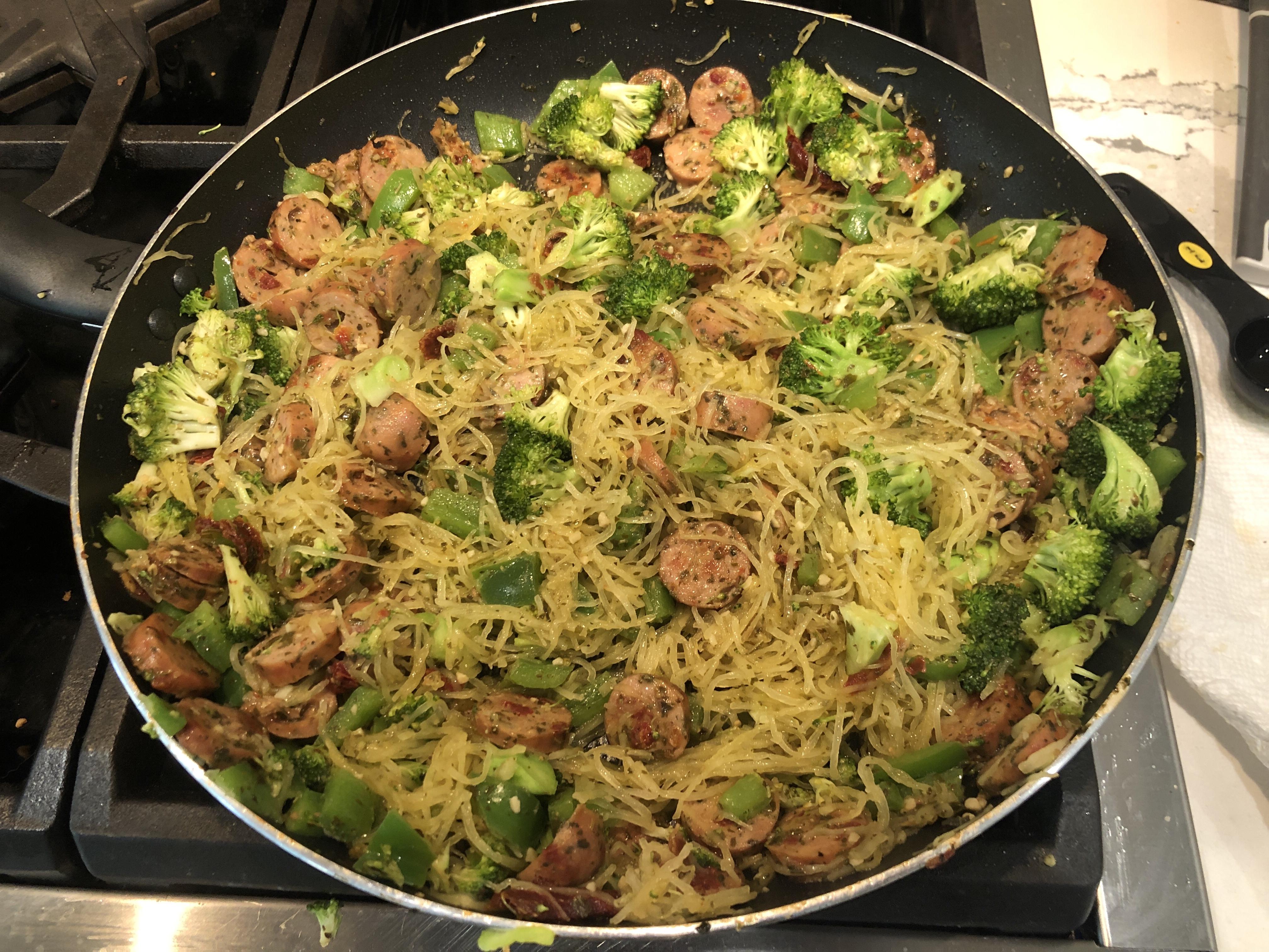 Italian Chicken Pesto with Spaghetti Squash Lisa Scott
