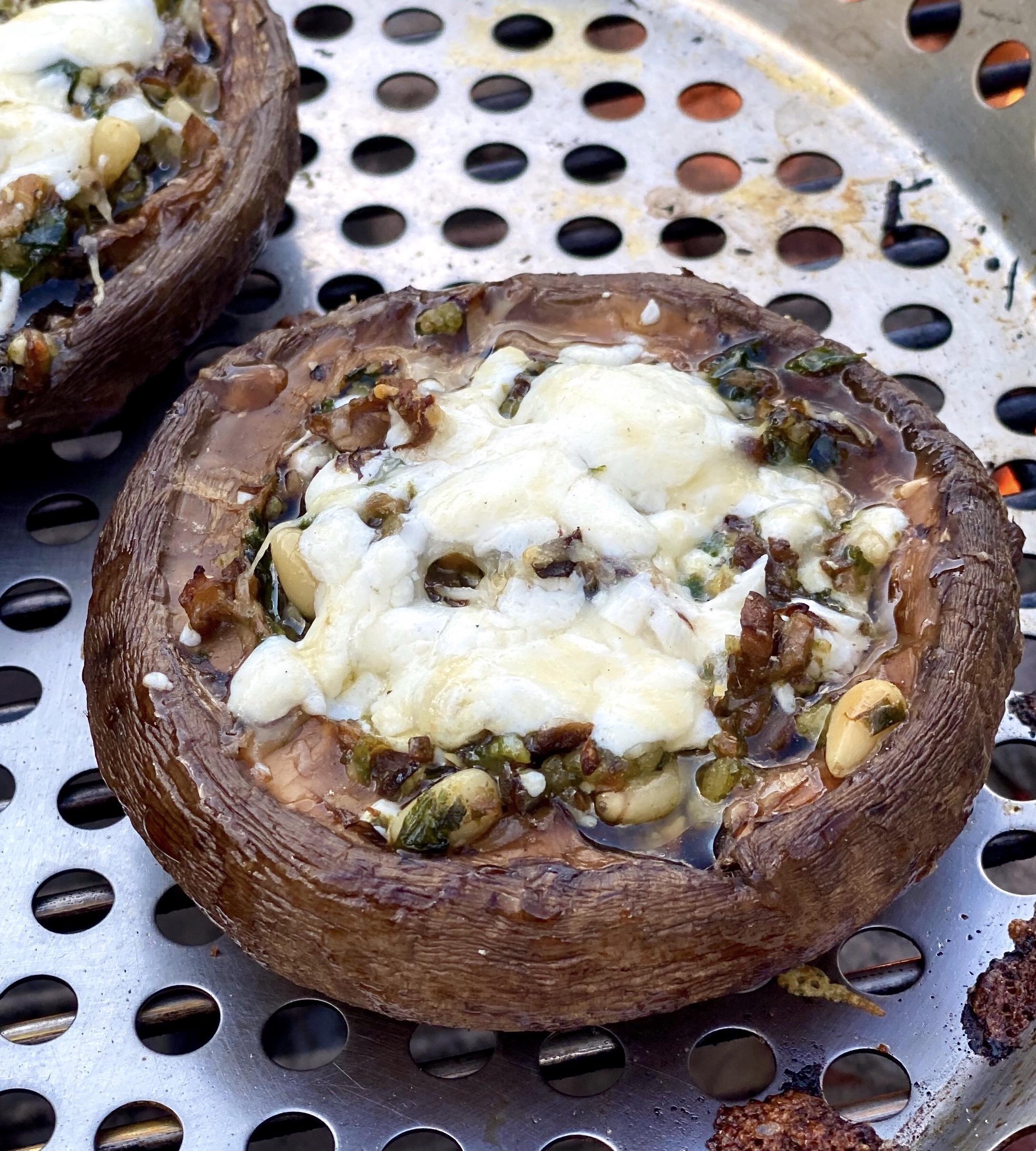 Pesto-Stuffed Grilled Portobellos KGora