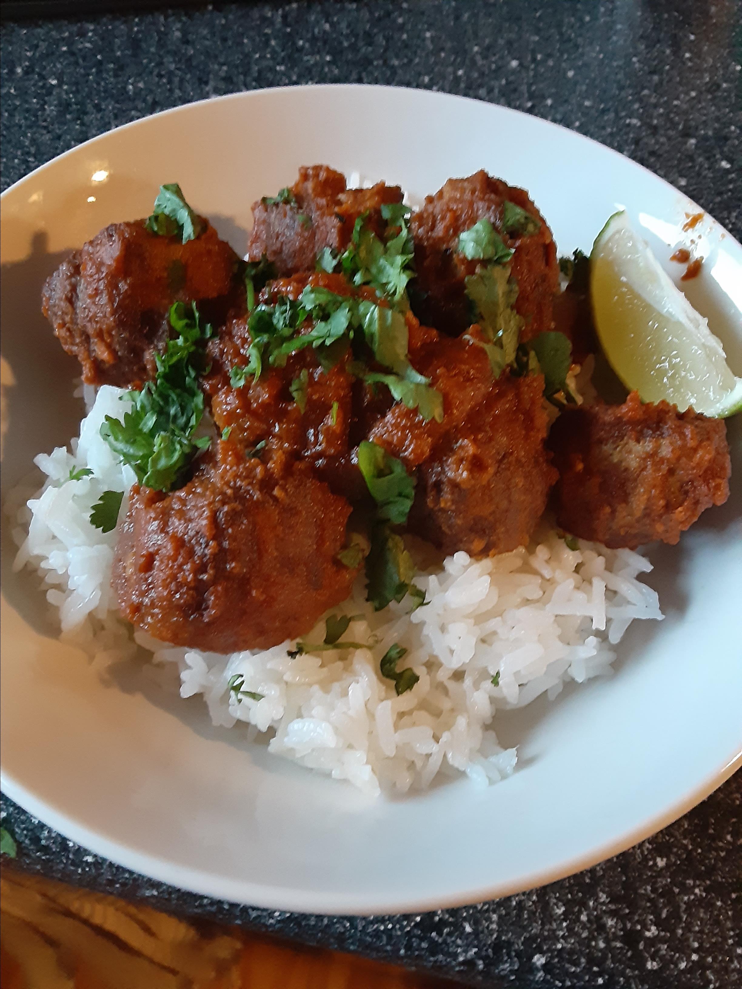 Thai Green Curry Meatballs Jillian Cote