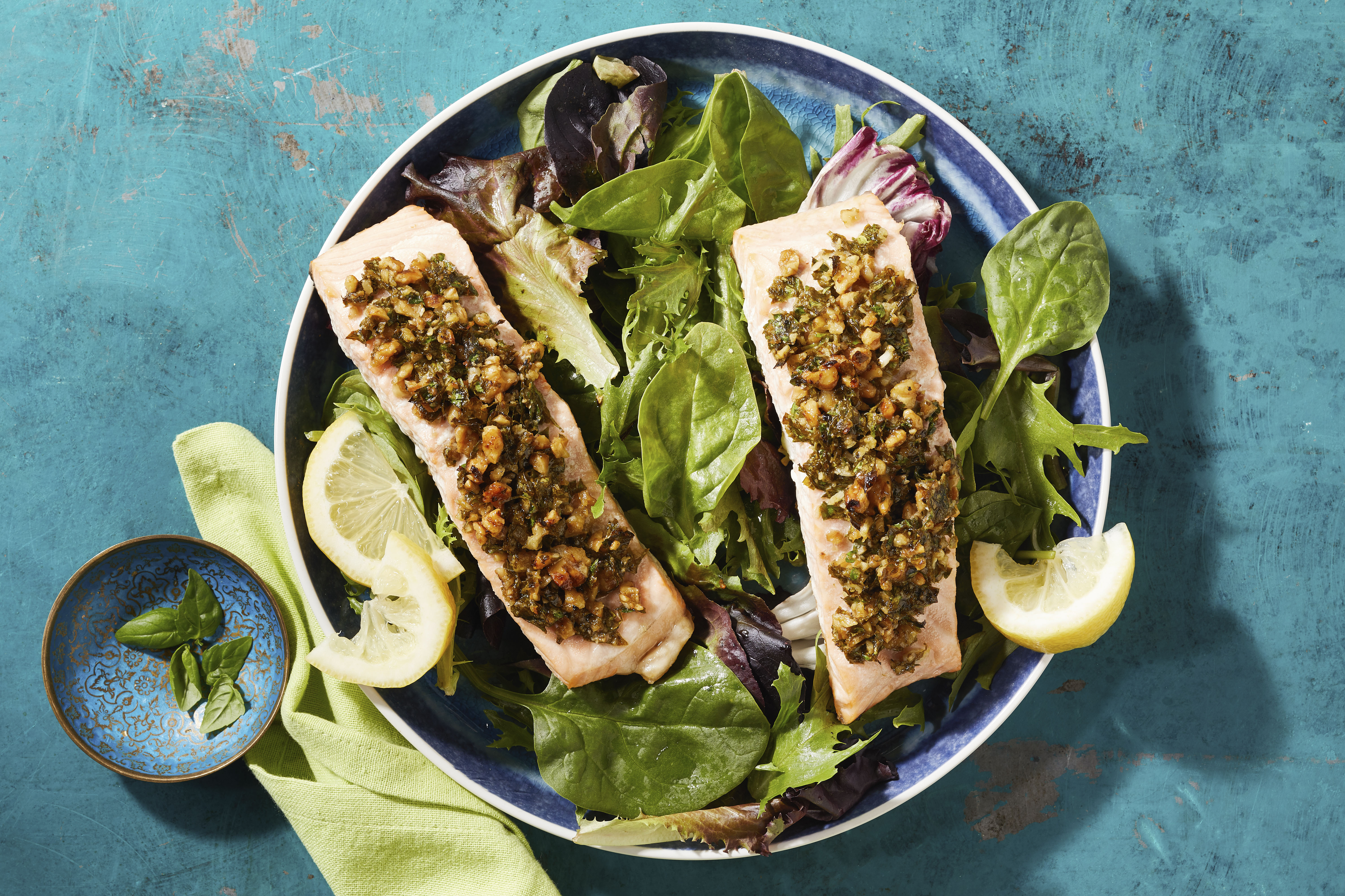 Parsley and Walnut-Crusted Salmon