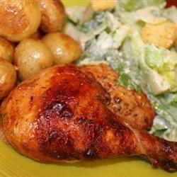 Roast Sticky Chicken-Rotisserie Style shar