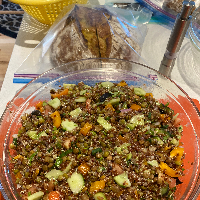 Lentil, Quinoa, and Mung Bean Salad Michael