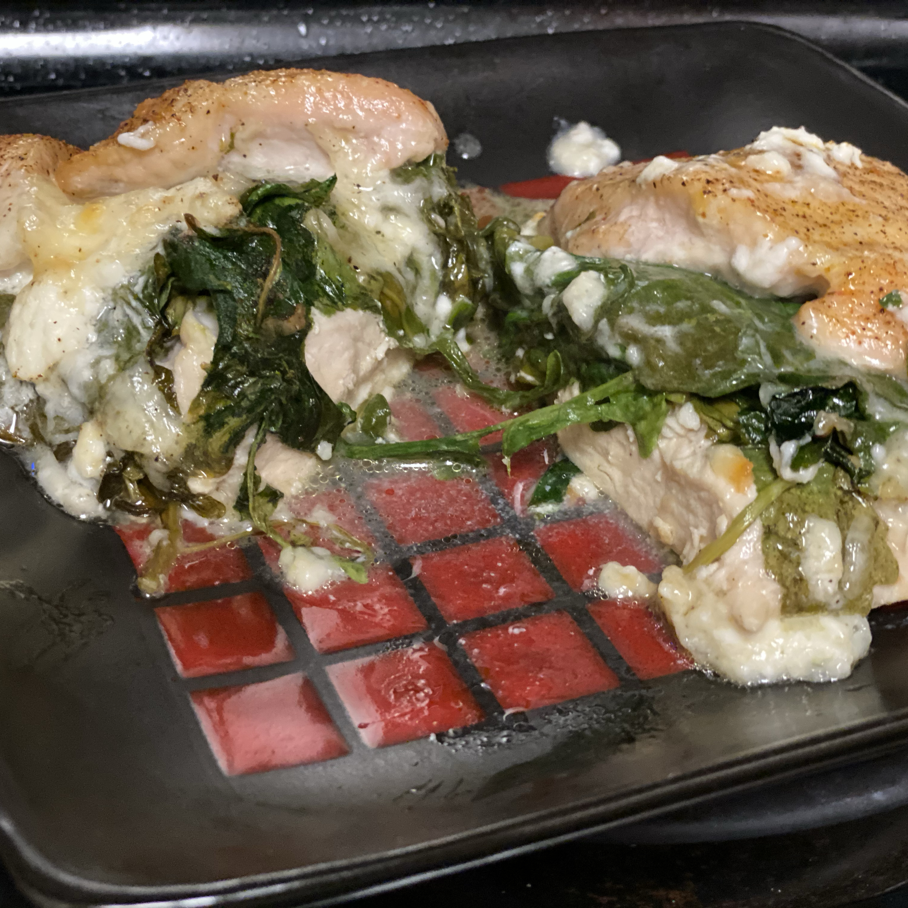 Easy Spinach and Arugula Chicken Stacie Votaw