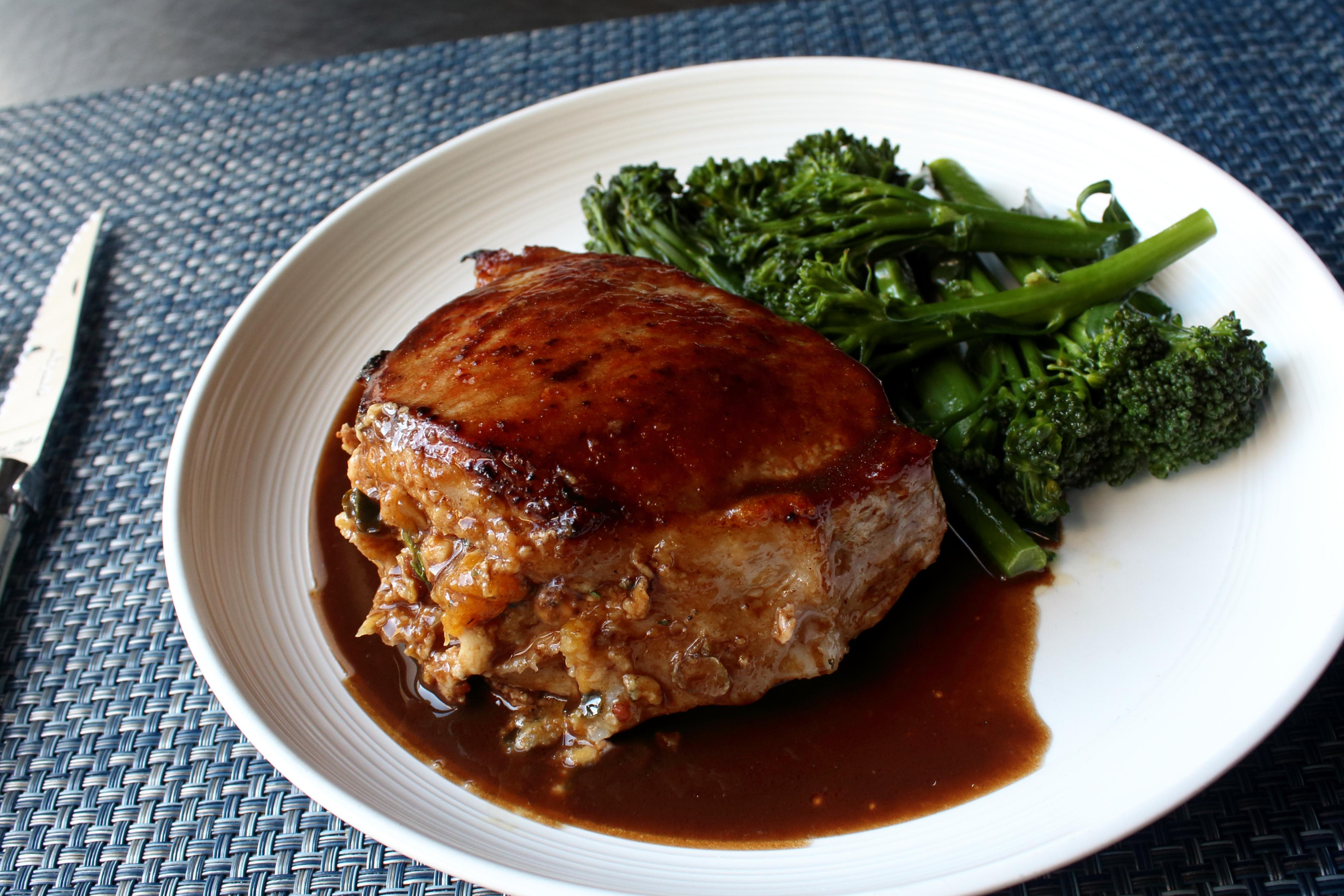Peach-Stuffed Pork Chops Allrecipes Magazine