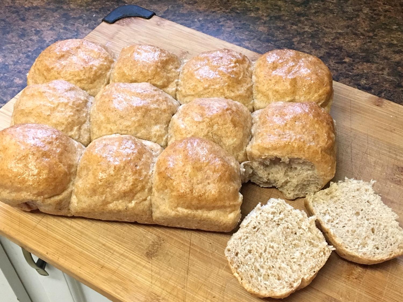 Whole Wheat Sourdough Pull-Apart Buns with Zucchini