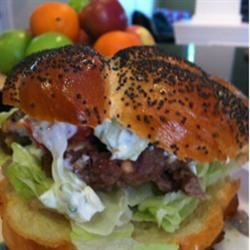 Greek Lamb-Feta Burgers With Cucumber Sauce Tiffany Curtis