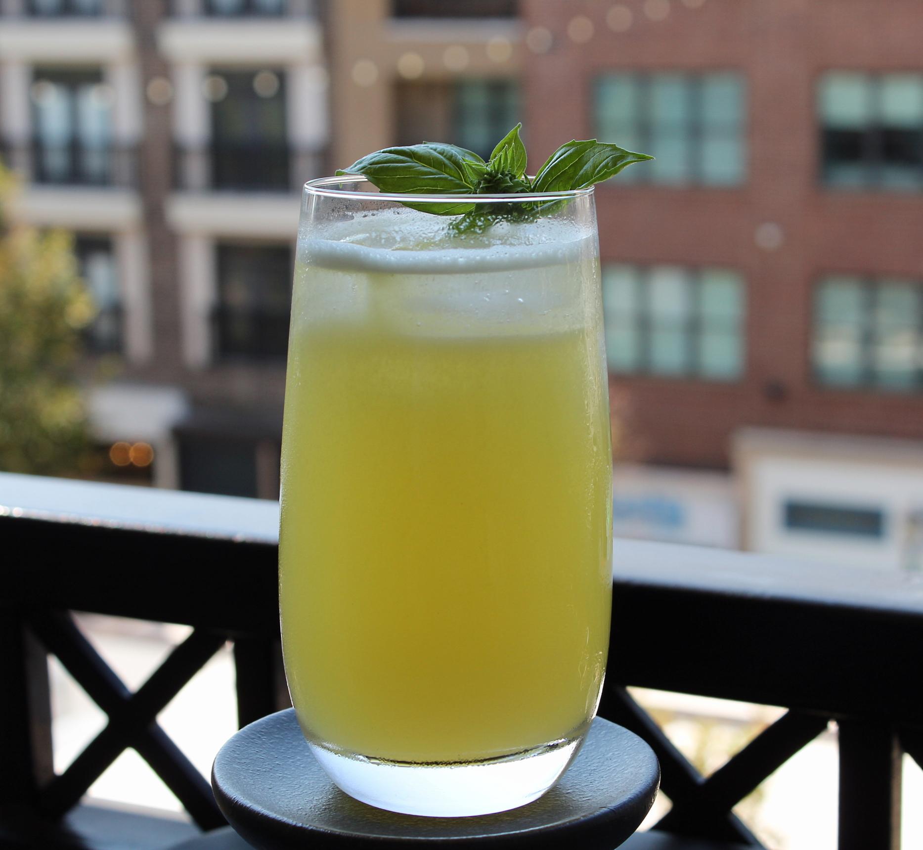 Basil-Gin Cocktail