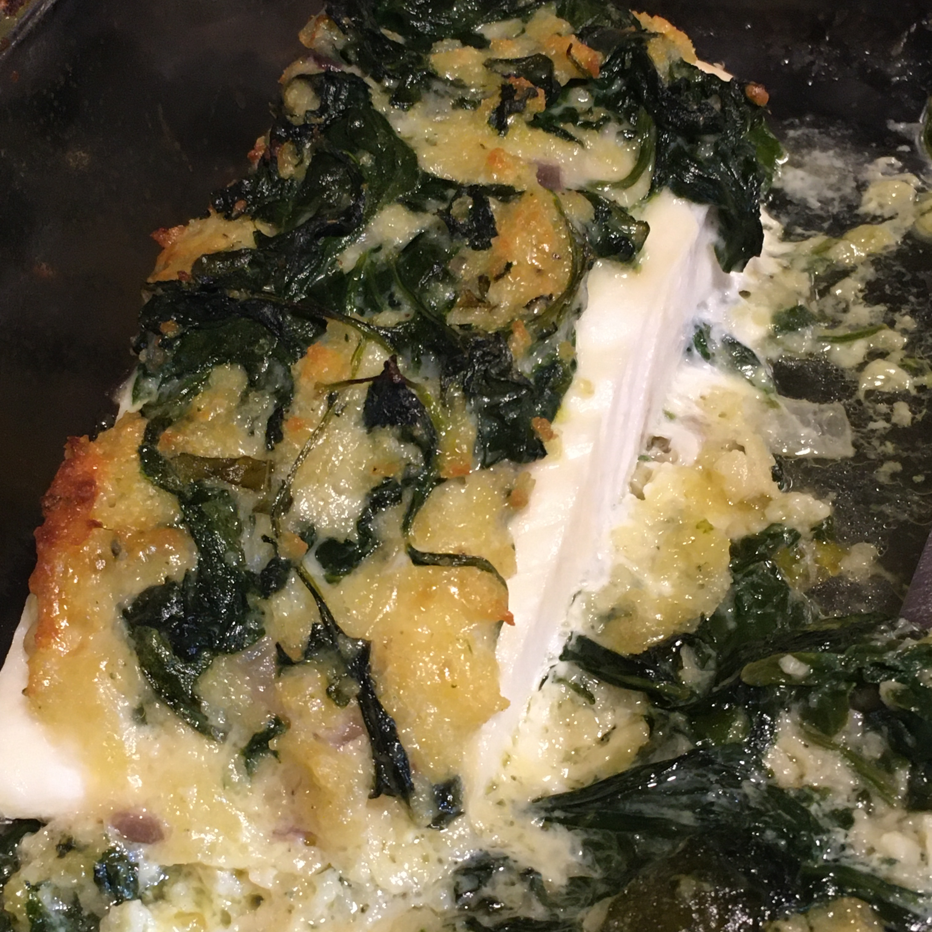 Aunt Carol's Spinach and Fish Bake