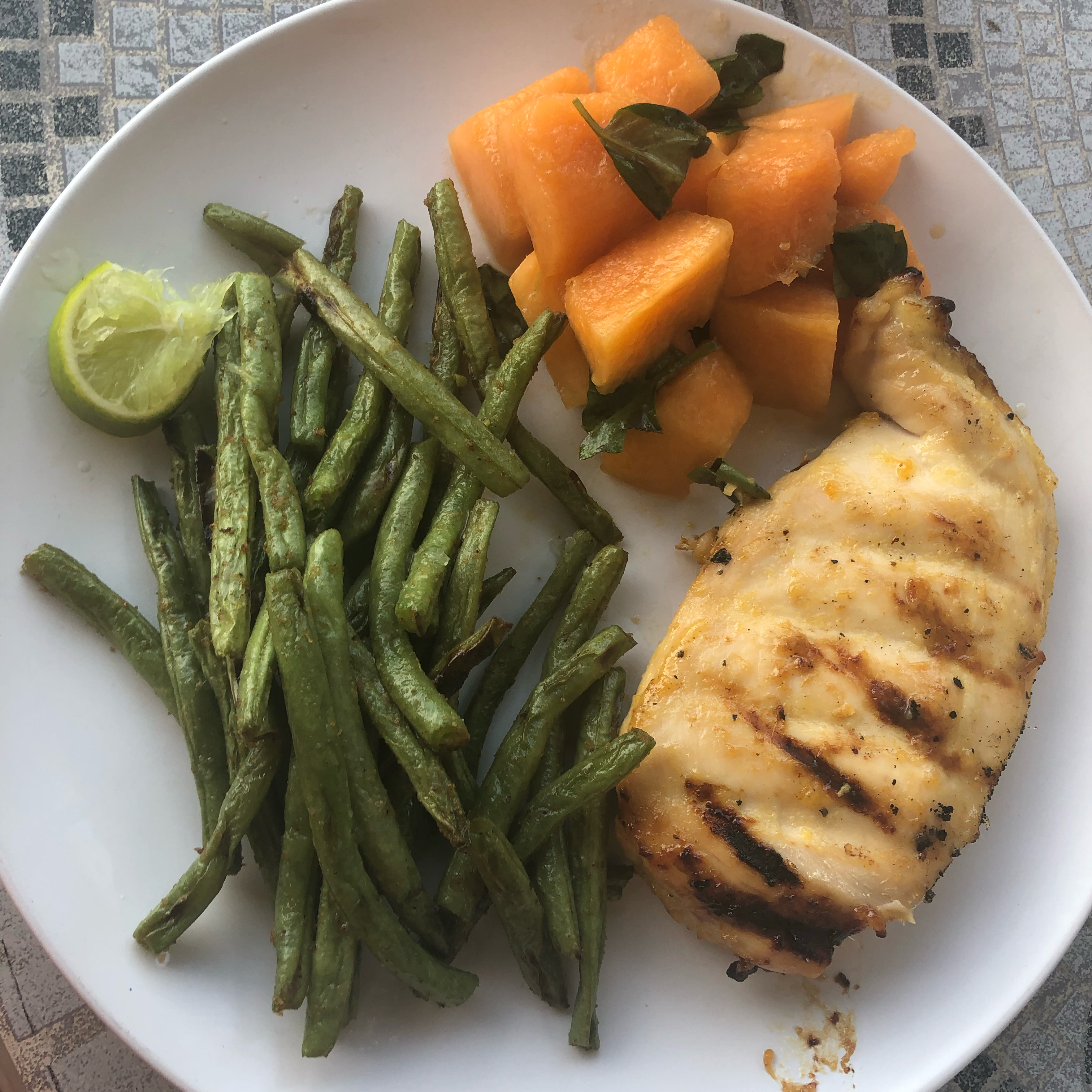 Grilled Ginger-Peach Chicken Breast rwodatch