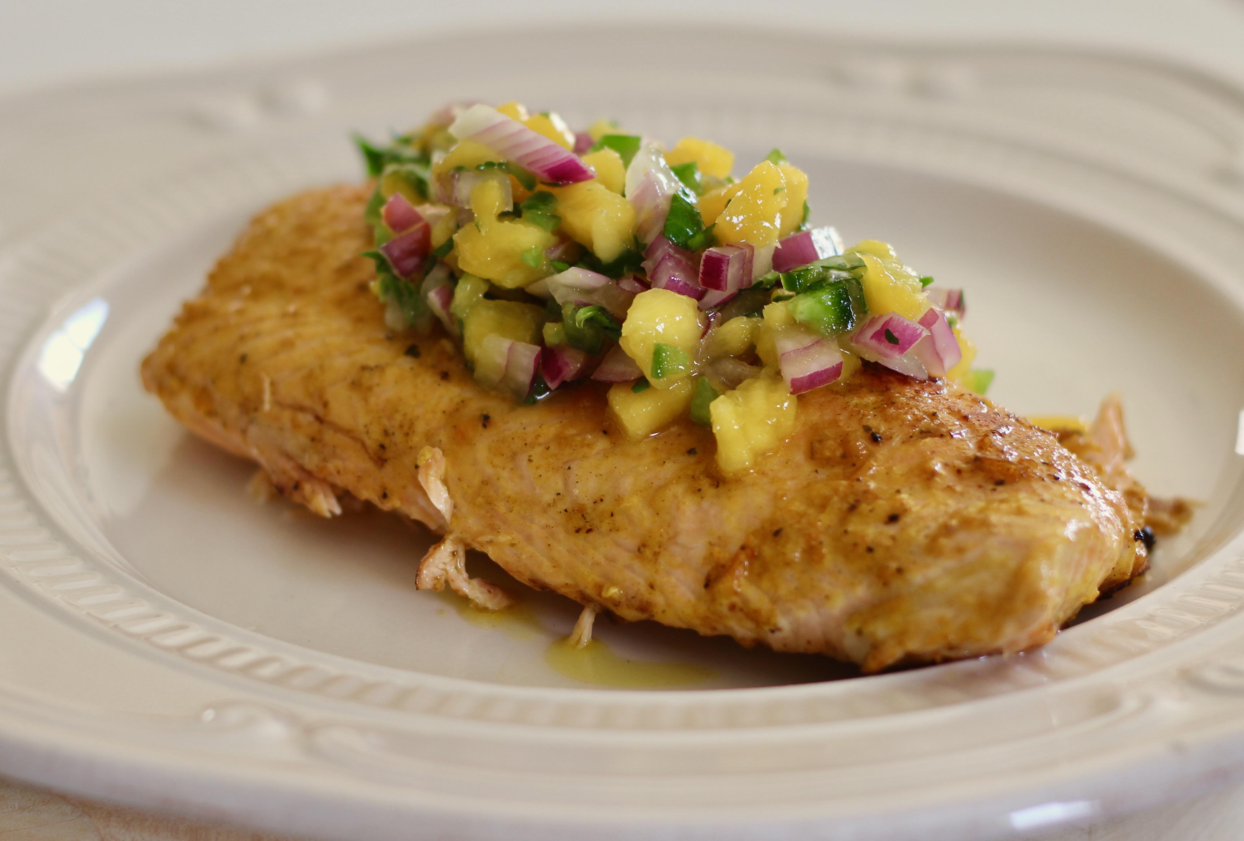 Brazilian Grilled Salmon With Mango Salsa