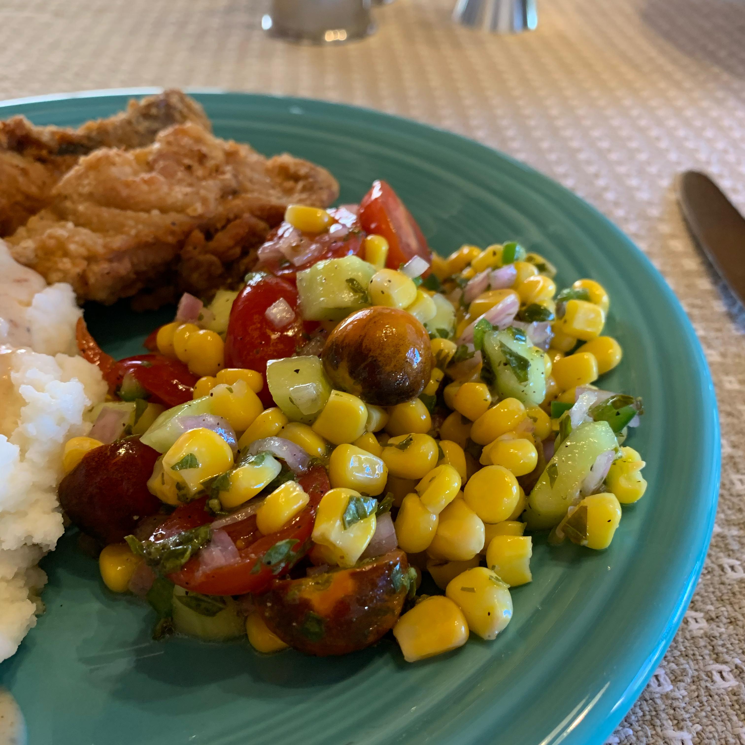 Easy Cherry Tomato Corn Salad herbgardener