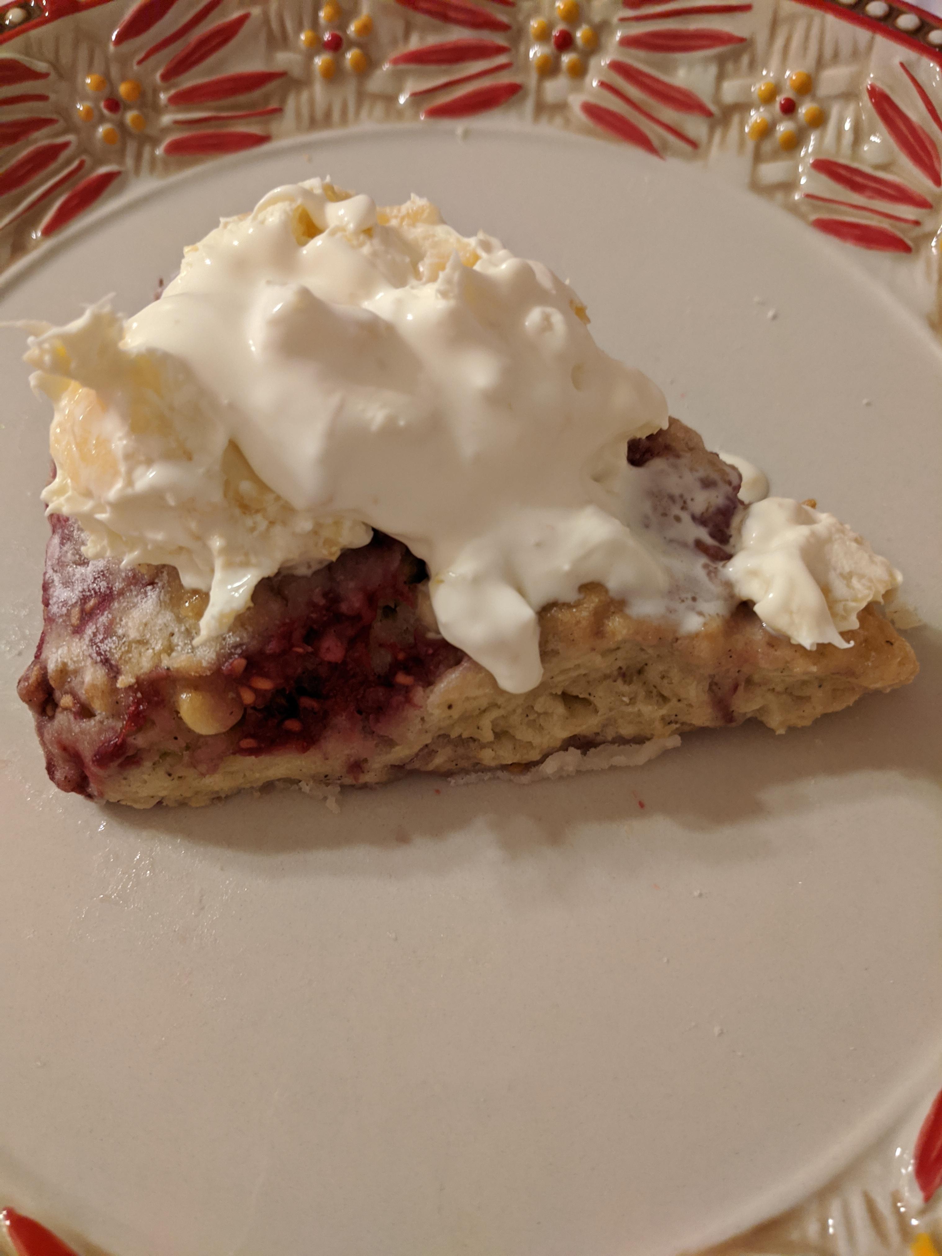 Lemon, Raspberry, and White Chocolate Scones