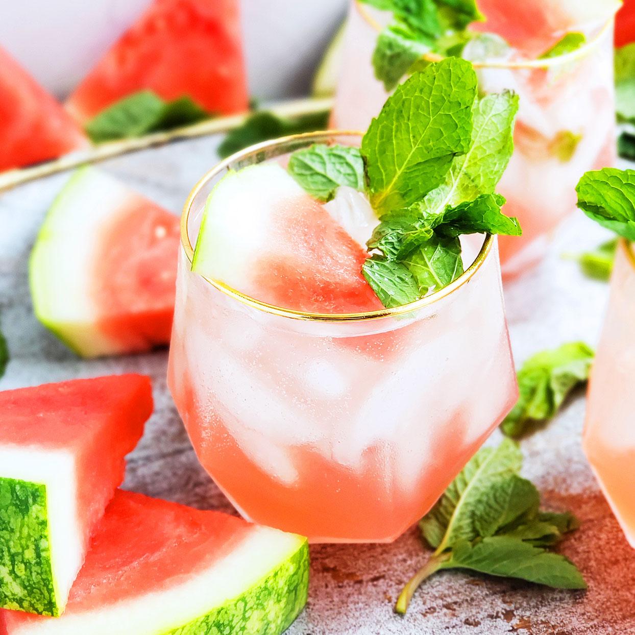 Watermelon Mint Mocktail Andrea Mathis, M.A., R.D.N., L.D