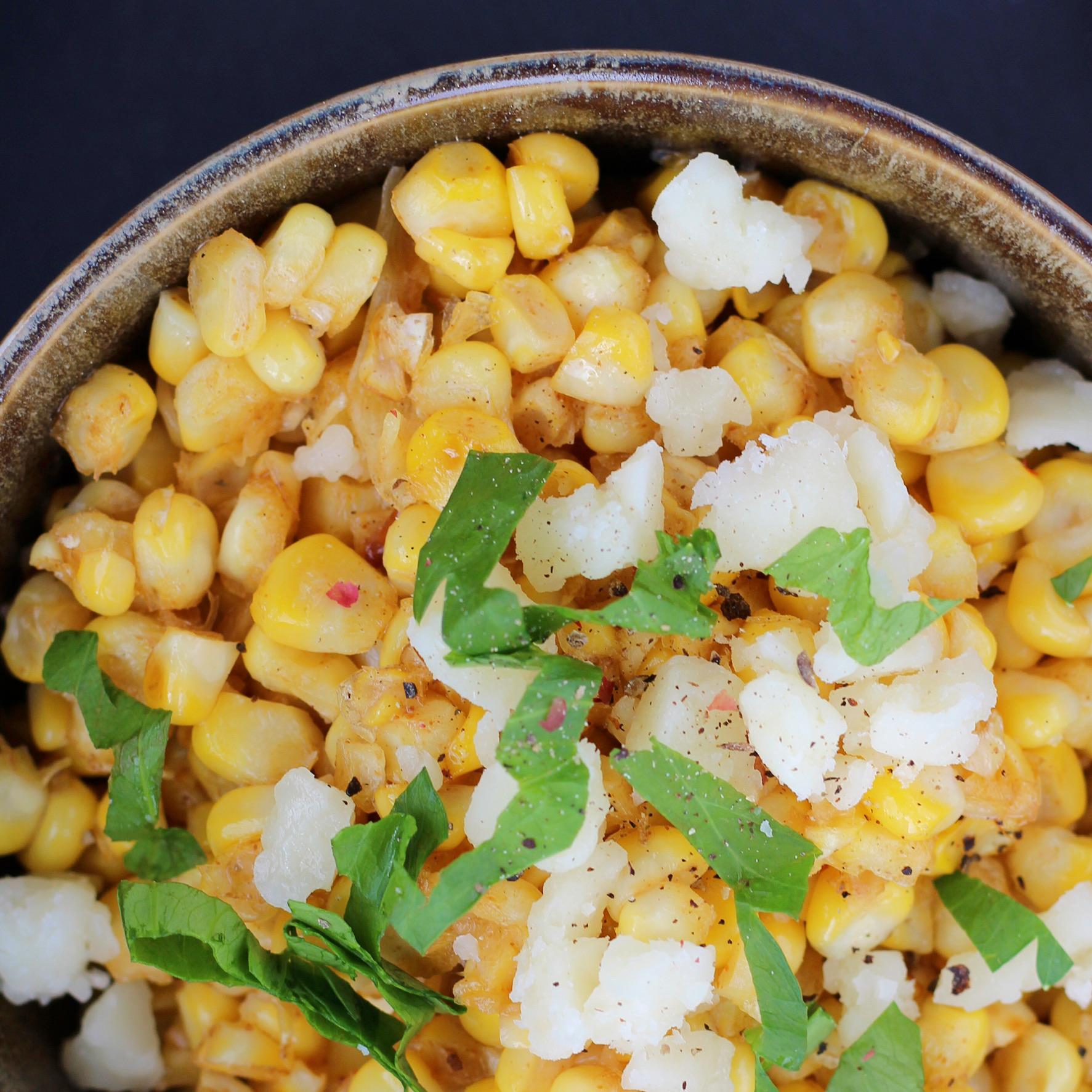 Lighter Skillet Mexican Street Corn