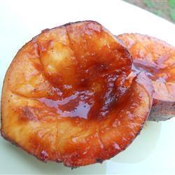 Barbequed Peaches