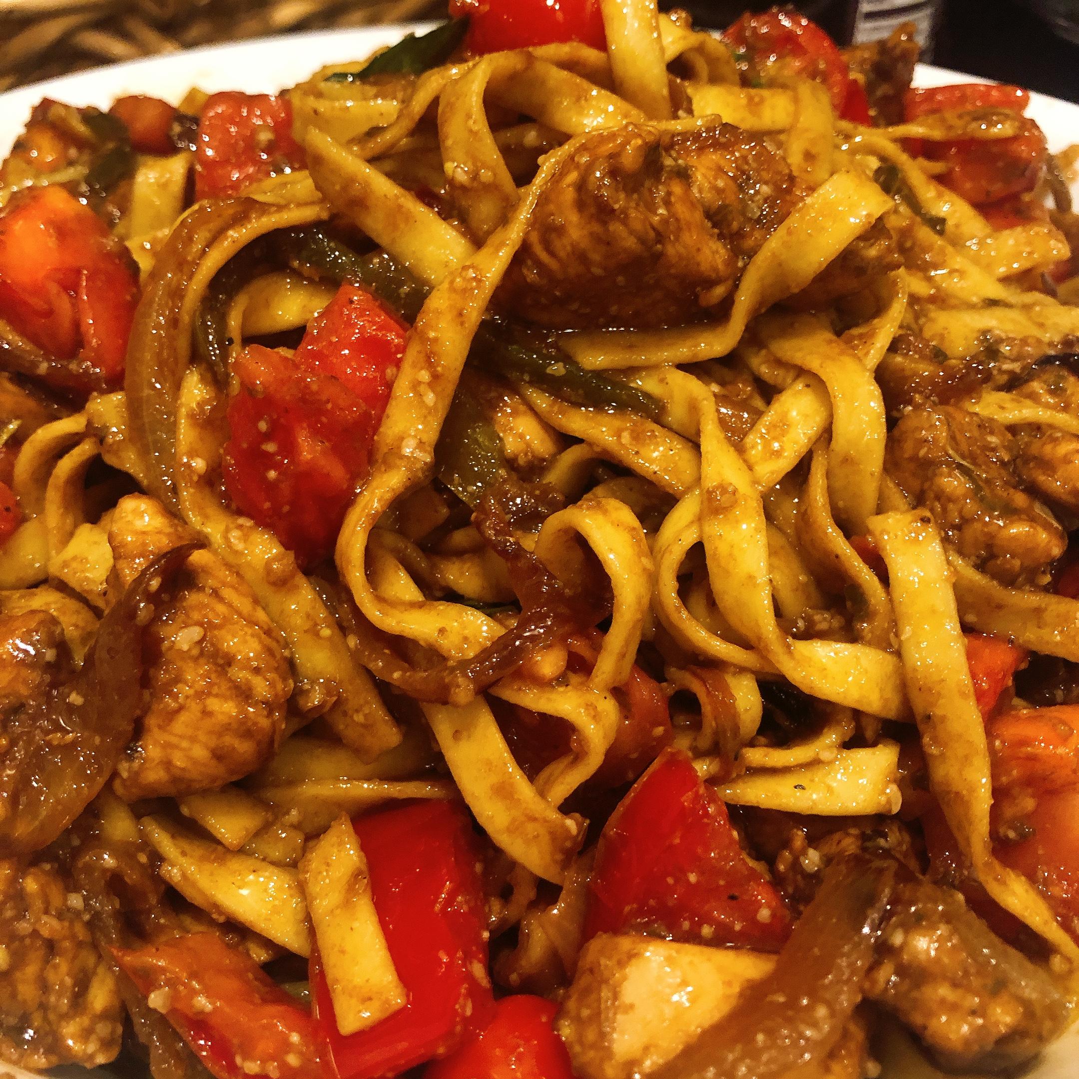 Balsamic Chicken and Pasta HEART1213