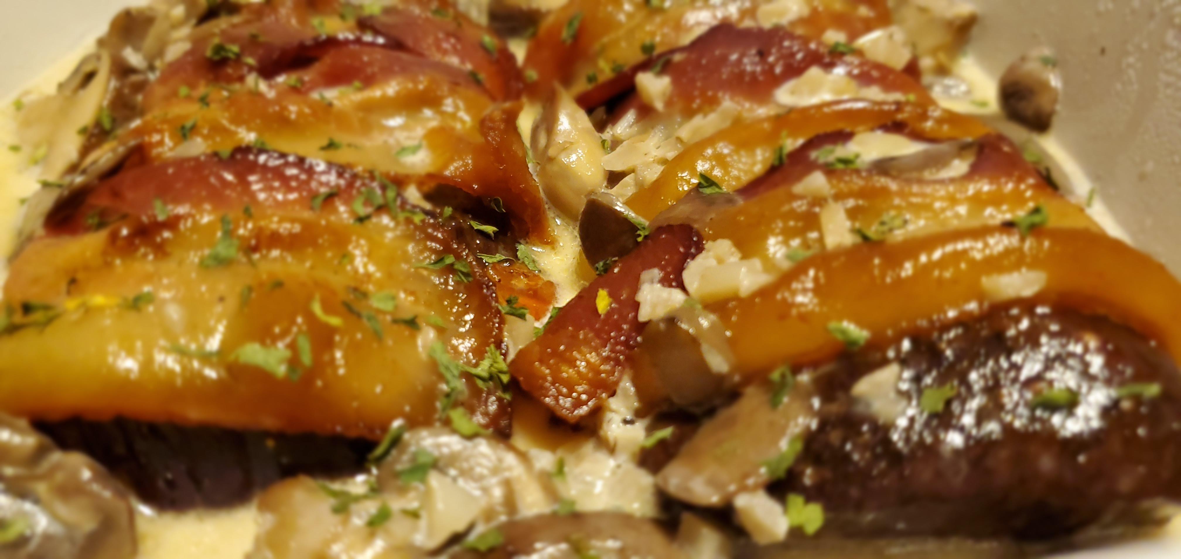Bacon-Wrapped Venison Tenderloin with Garlic Cream Sauce Shannon Lake