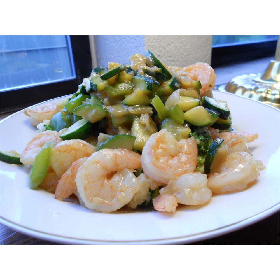 Honey-Ginger Shrimp and Vegetables kellieann