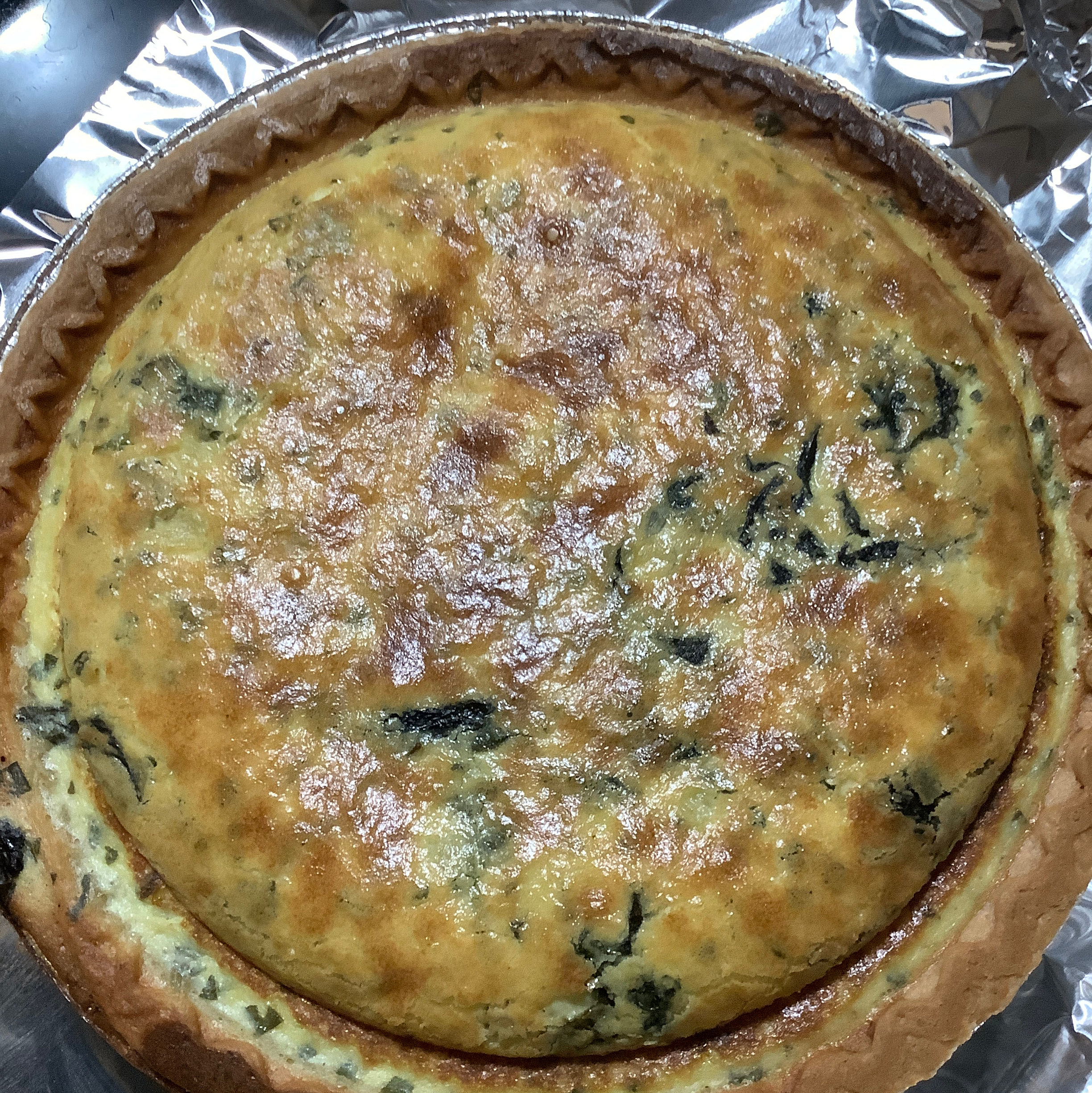 Spinach-Ricotta Quiche Misty LilDevil Laning