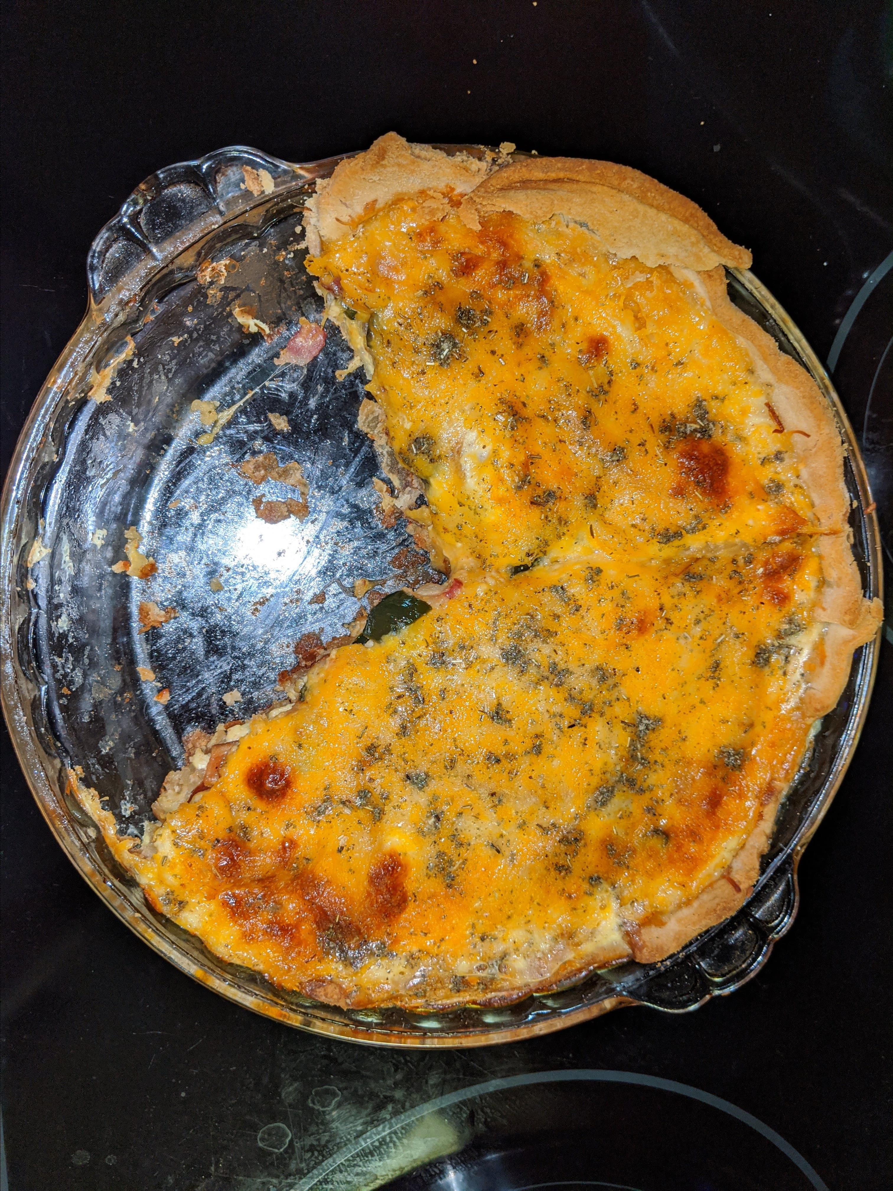 Apple, Cheddar, and Bacon Quiche