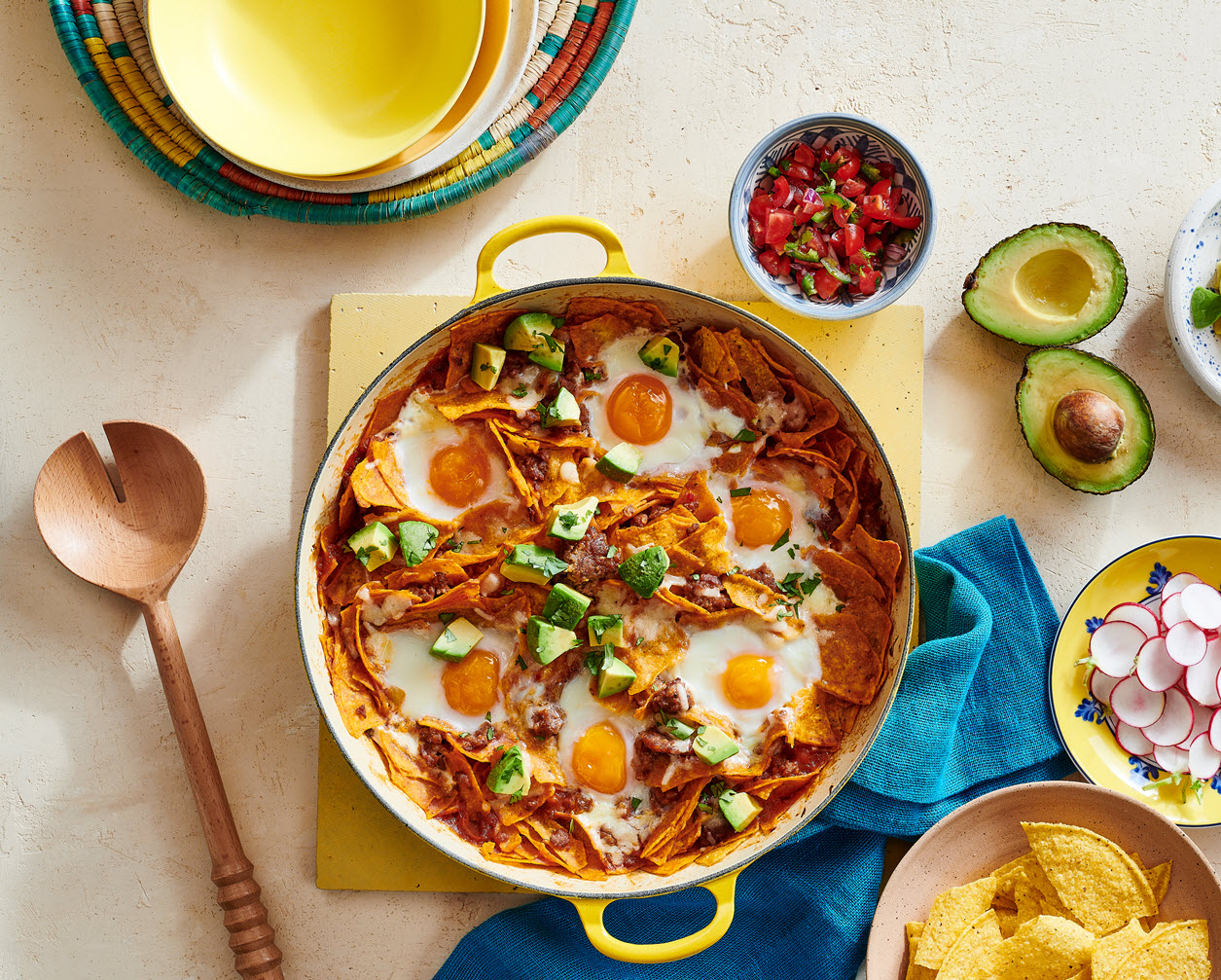 Chilaquiles Breakfast Casserole