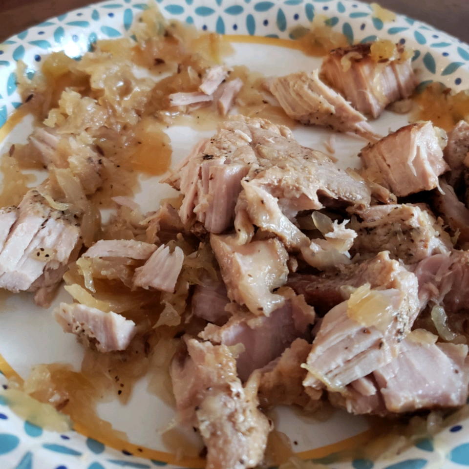 German Pork Chops and Sauerkraut