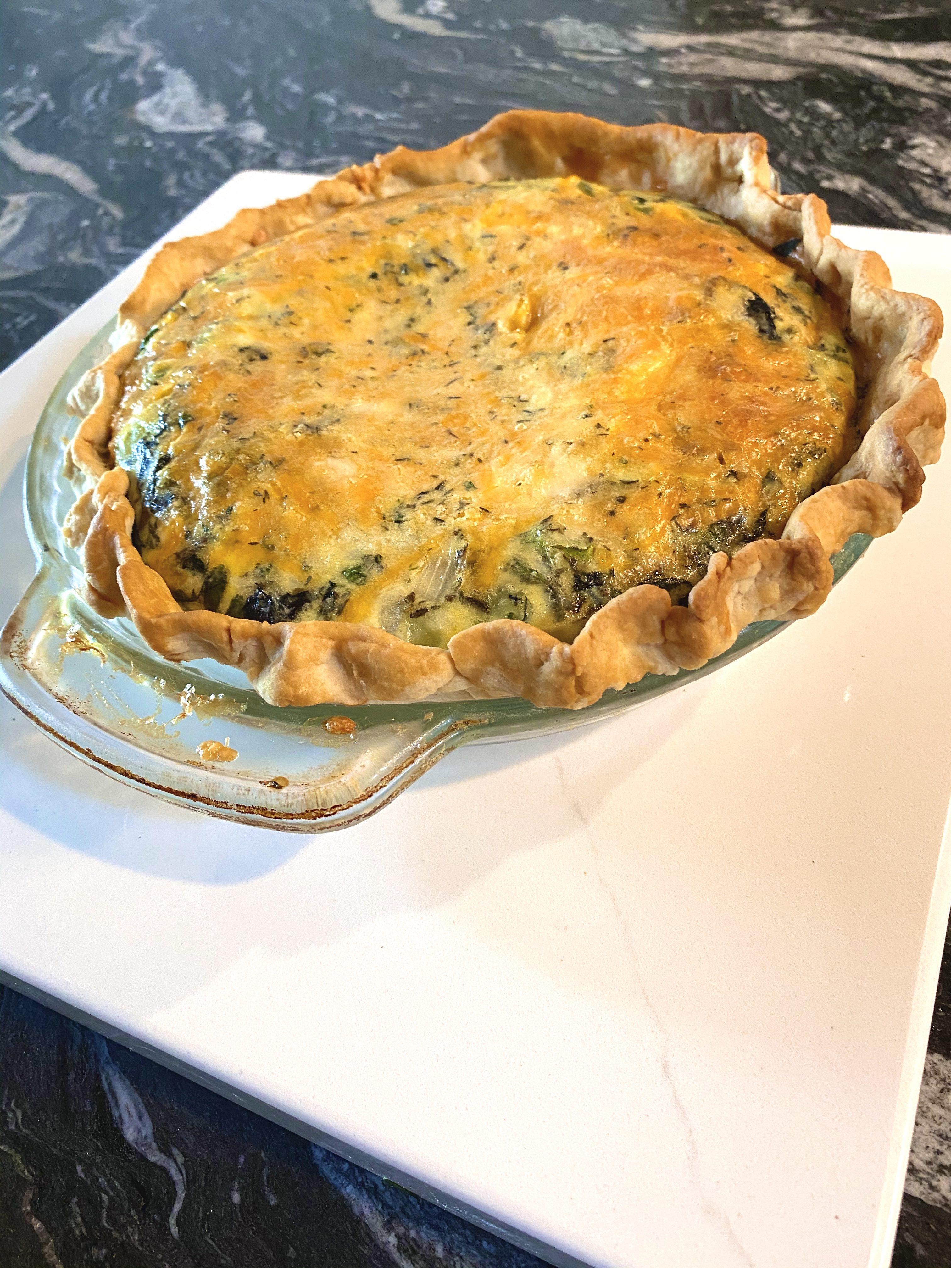Broccoli and Cheddar Quiche Joni