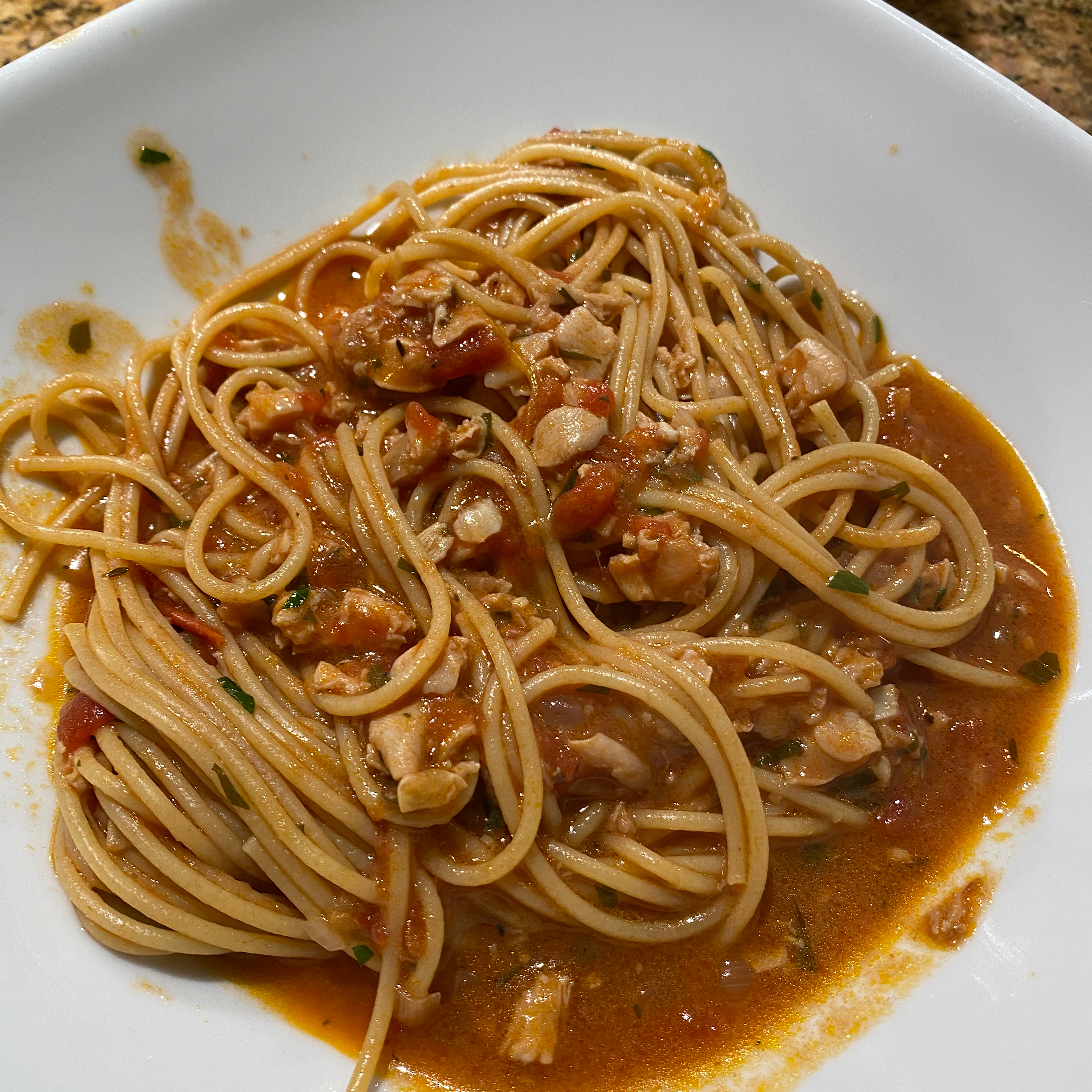 Linguine With Red Clam Sauce Gina Reyes