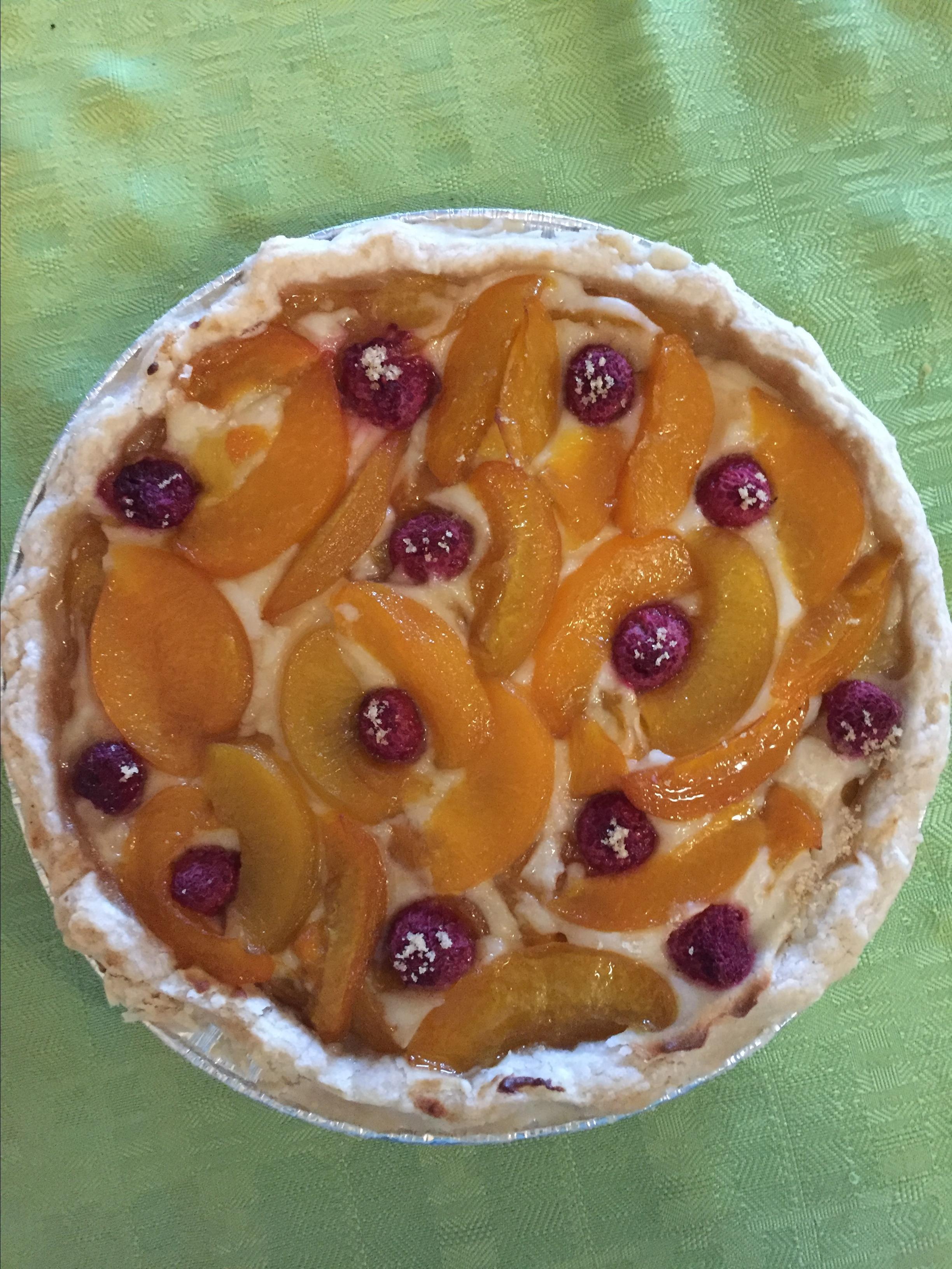 Sour Cream Peach Pie Rebecca Grierson