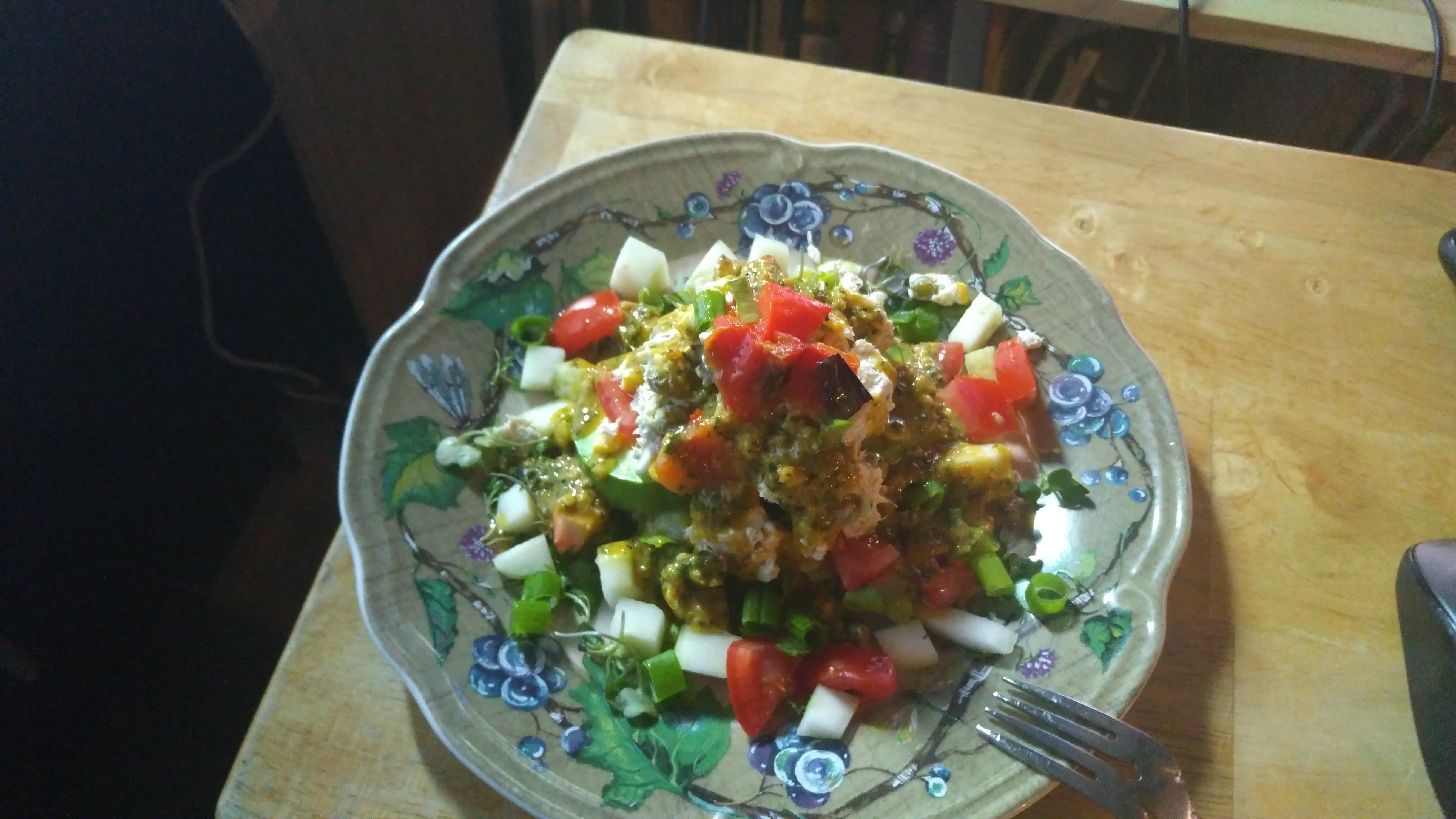 Peruvian Potato-Chicken Salad (Causa Rellena) DaSuperTroop