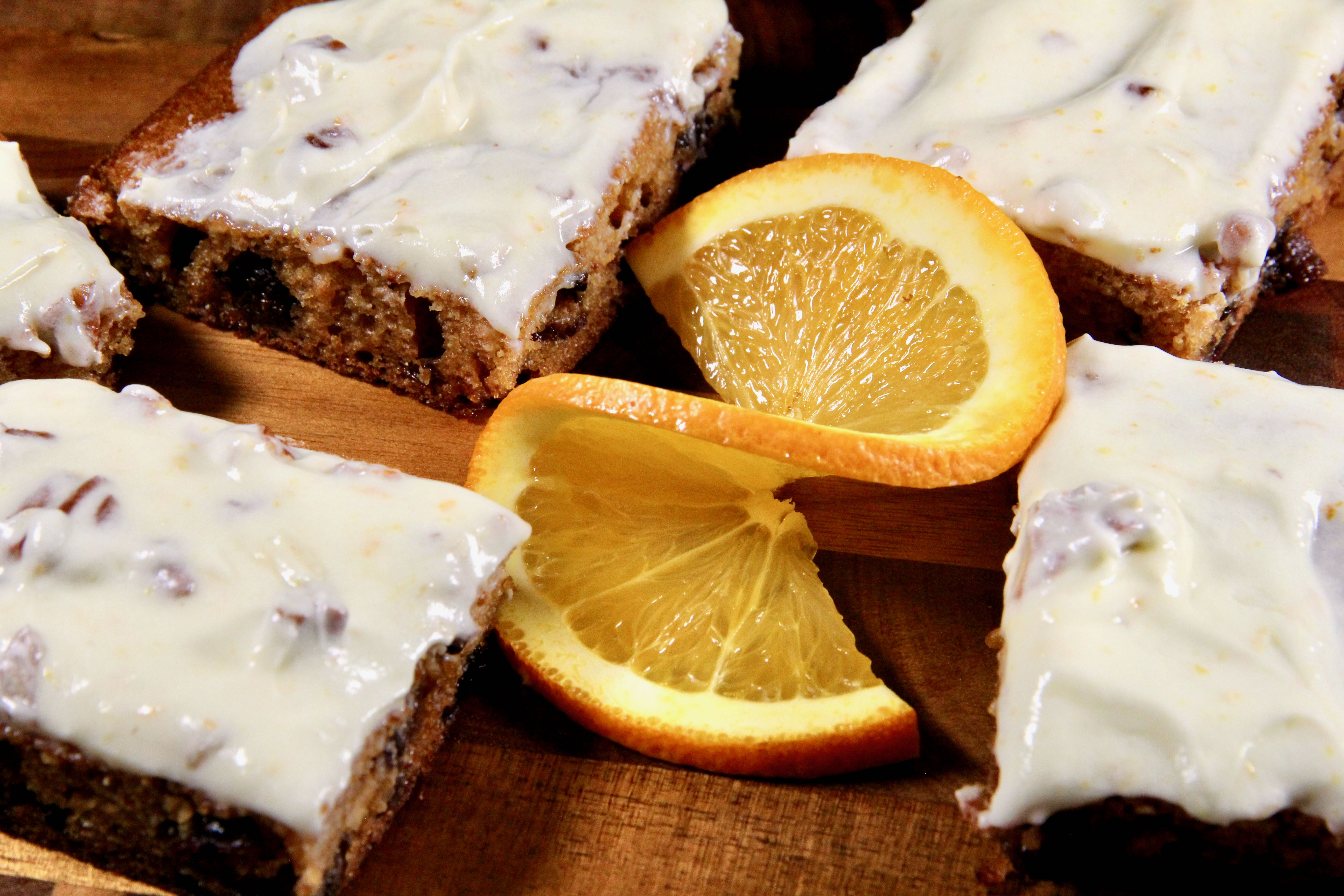 Frosted Orange Date Bars