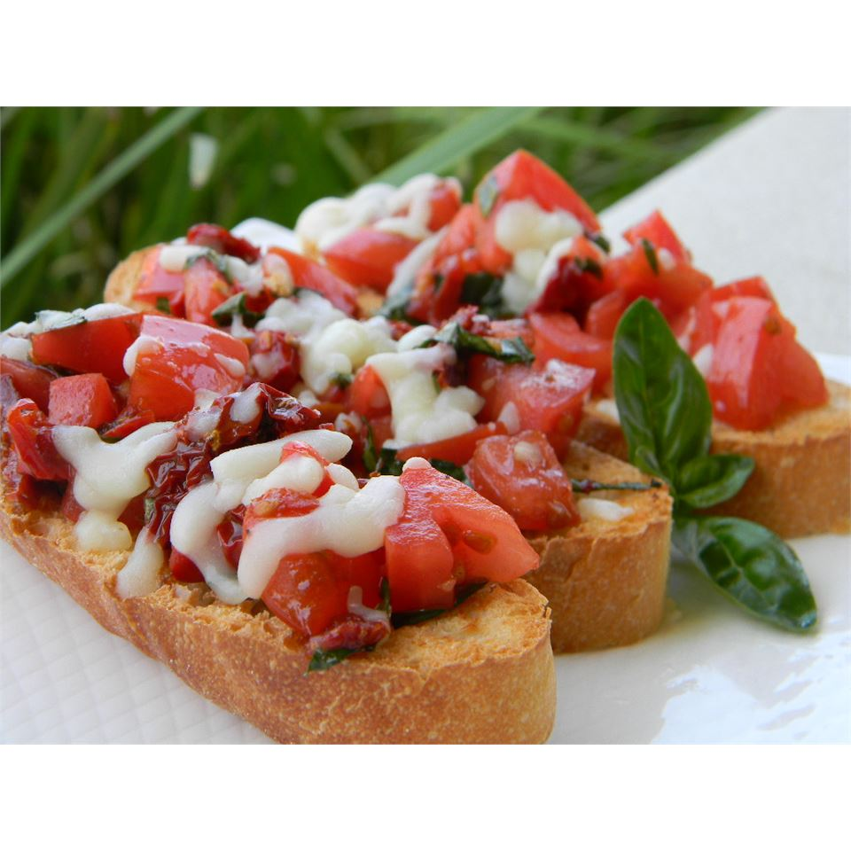 Healthier Double Tomato Bruschetta Baking Nana