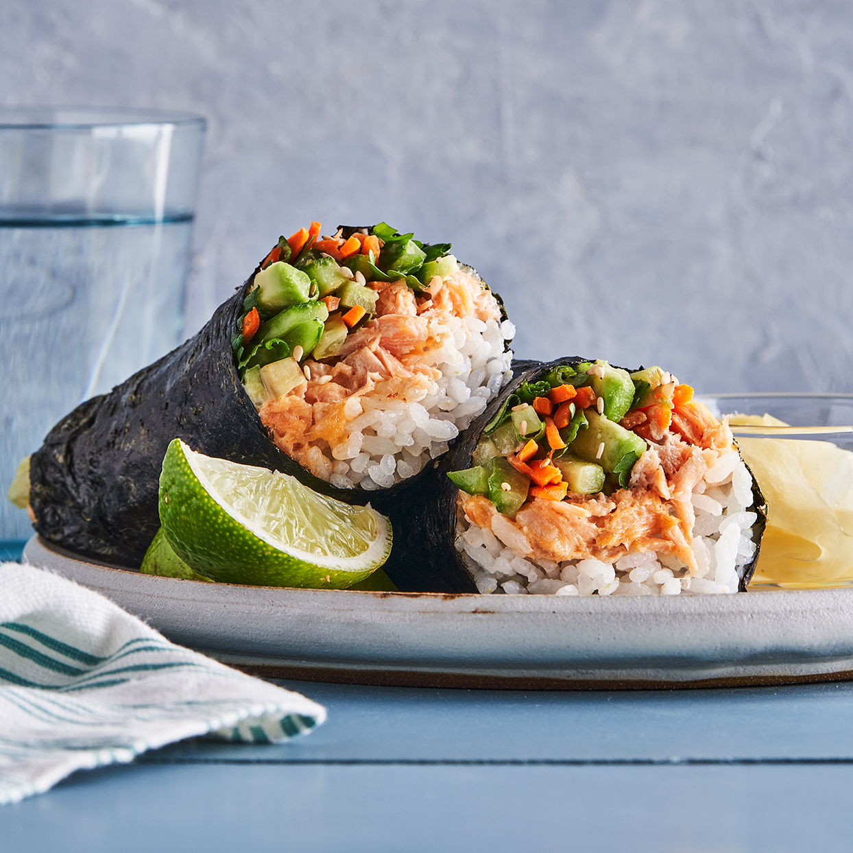 If rolling seems like too much work, serve these up as bowls. Chop up the nori to sprinkle on top. Source: EatingWell Magazine, September 2020