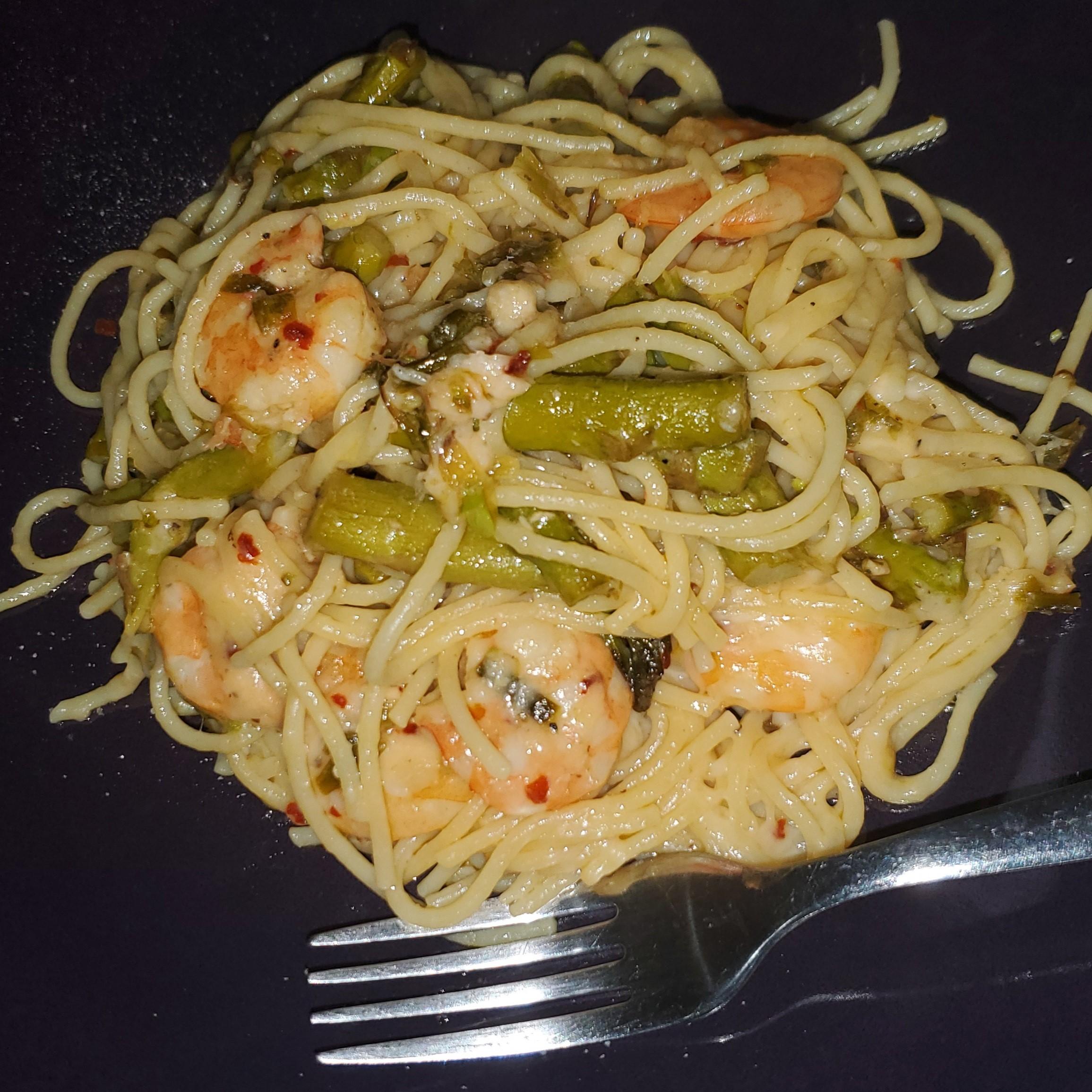 Shrimp and Asparagus with a Louisiana Twist