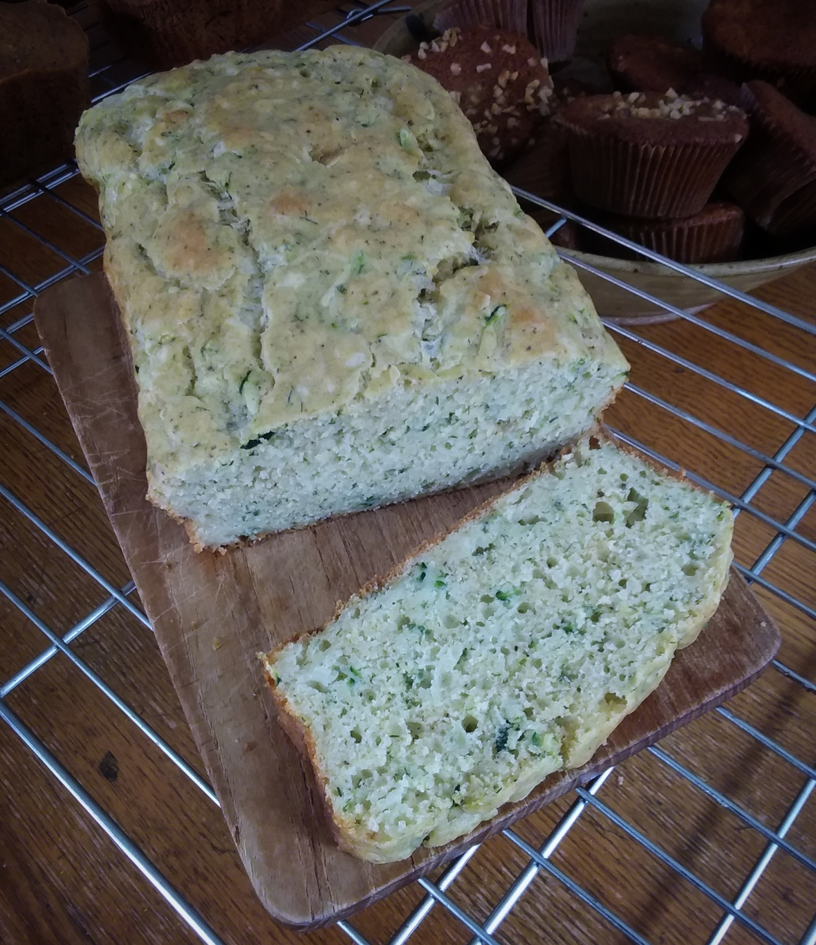 Cheesy Zucchini Bread with Herbs