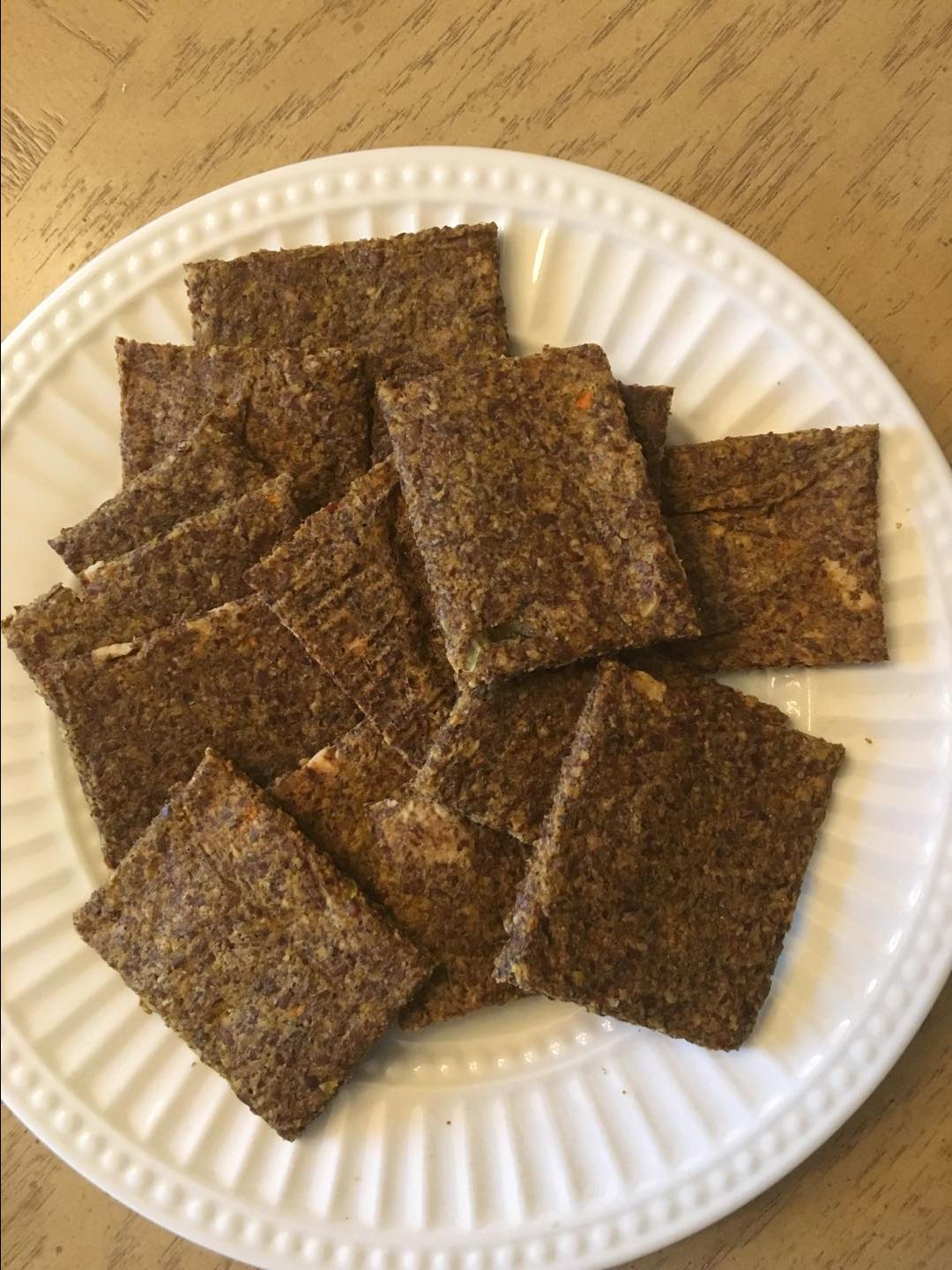 Cheezy Flax Crackers Sharon