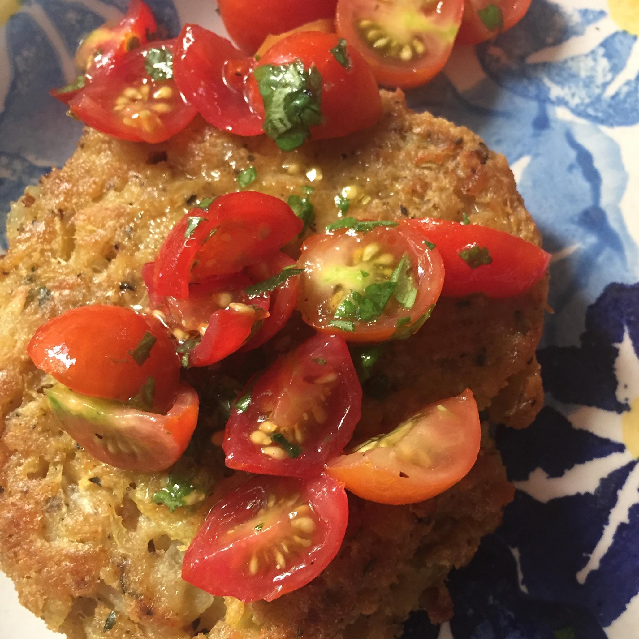 Connie's Zucchini  Crab  Cakes
