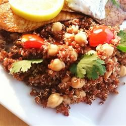 Quinoa with Chickpeas and Tomatoes LatinaCook