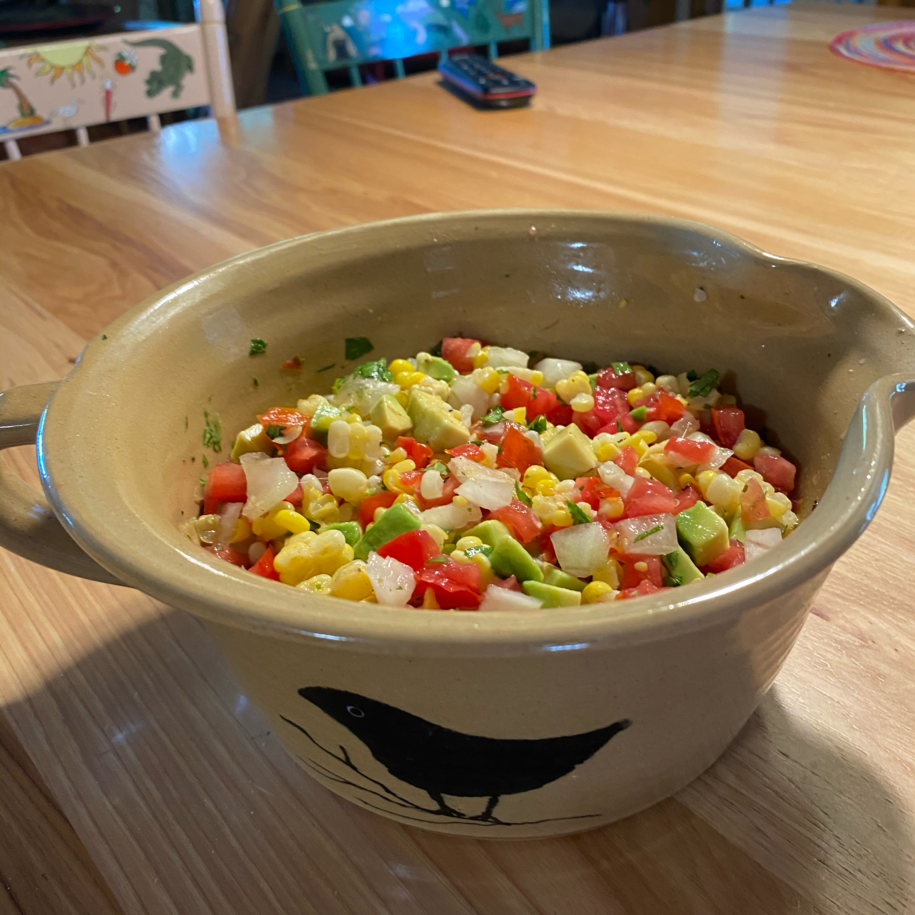 Corn Salsa with Avocado