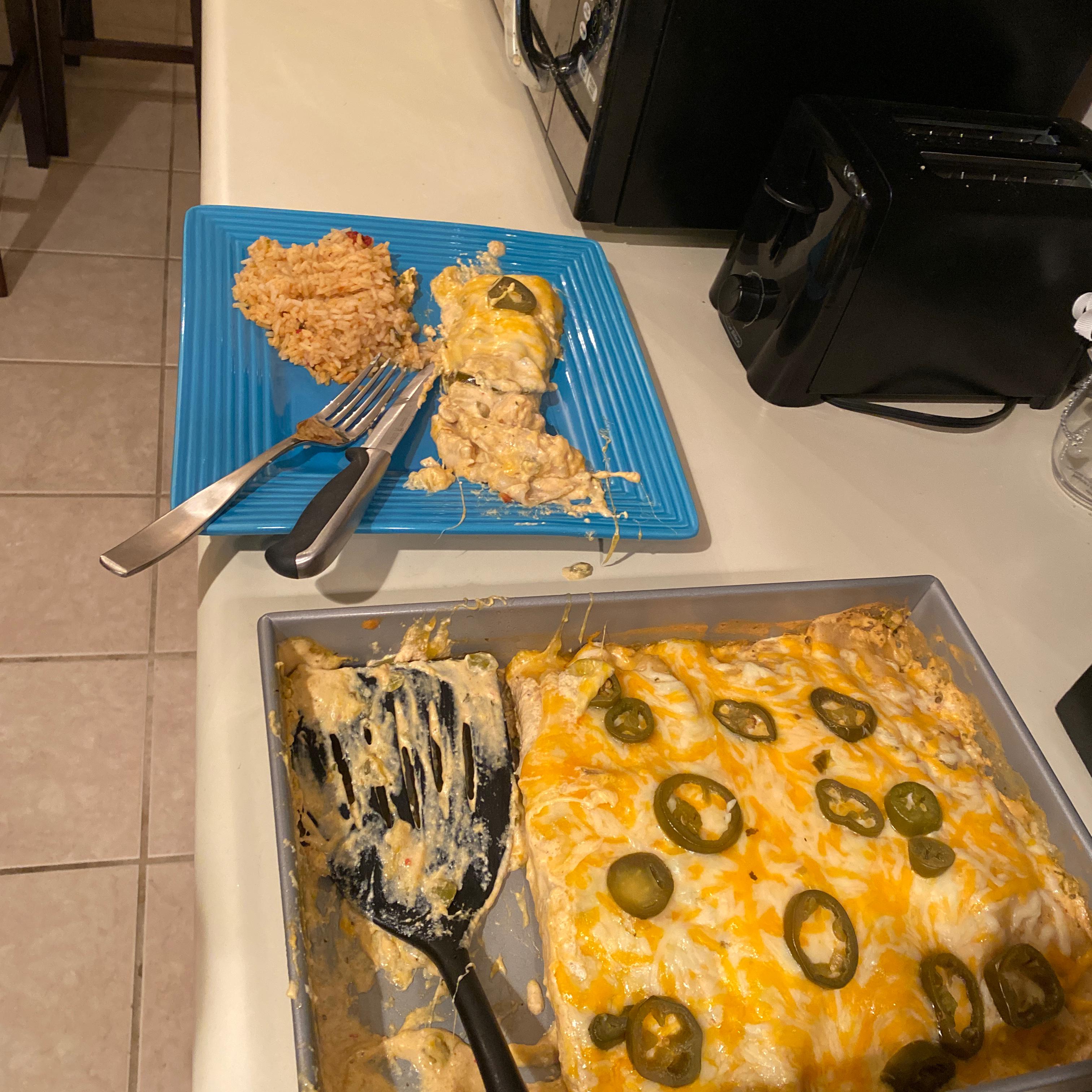 Chicken Ranch Enchiladas lauren