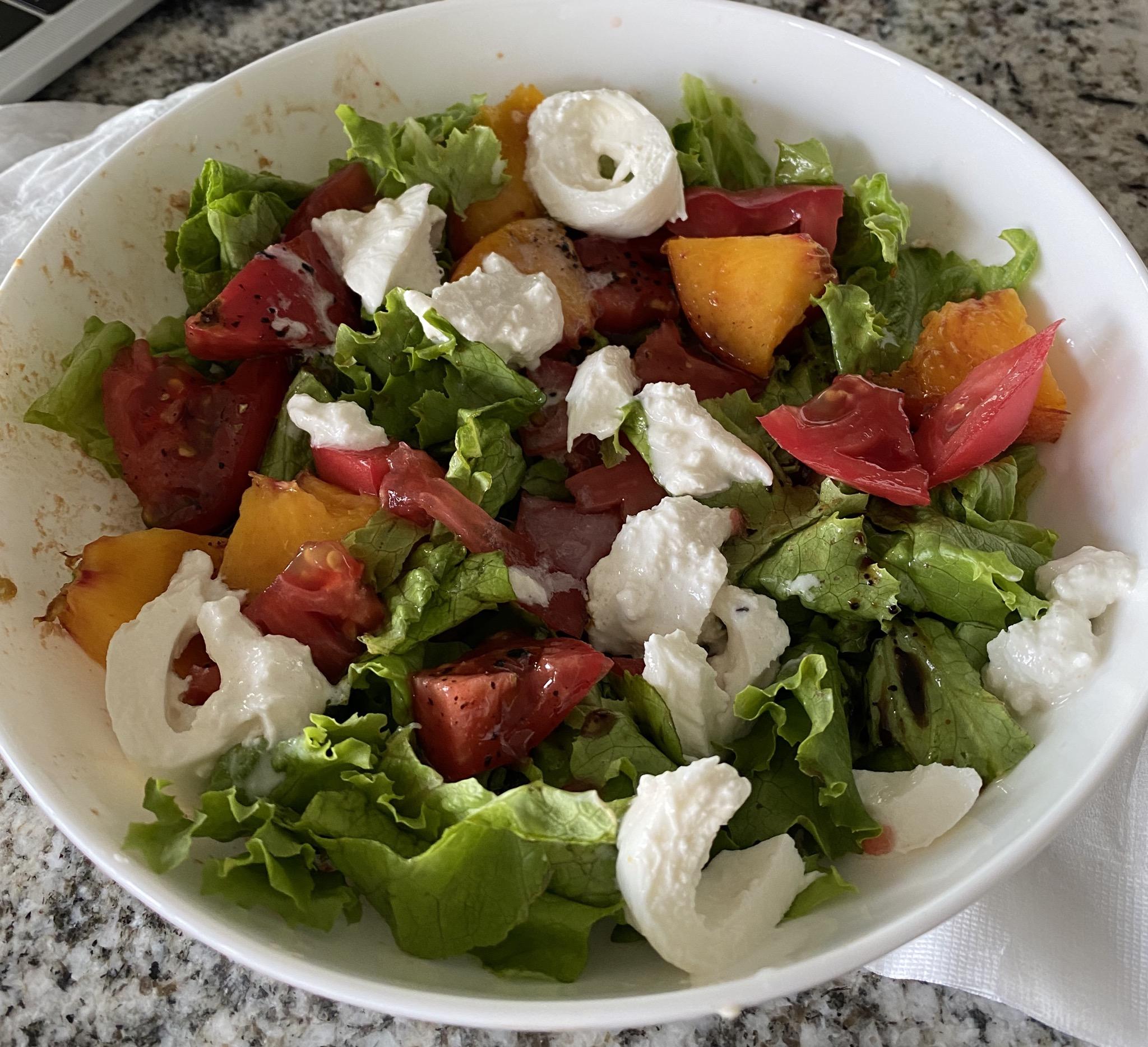 Peach and Tomato Caprese Salad