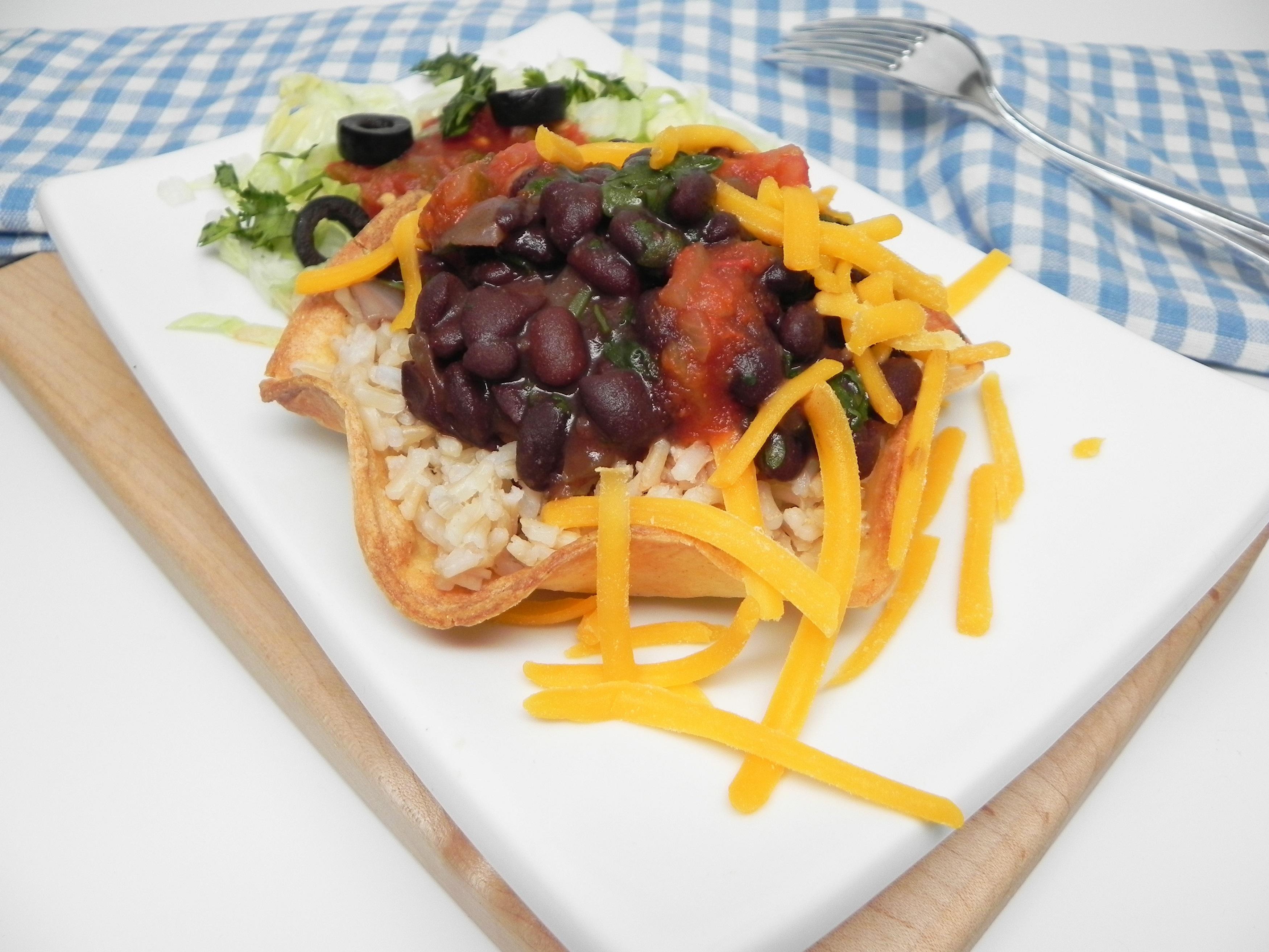 Mojo-Style Black Bean and Rice Bowl