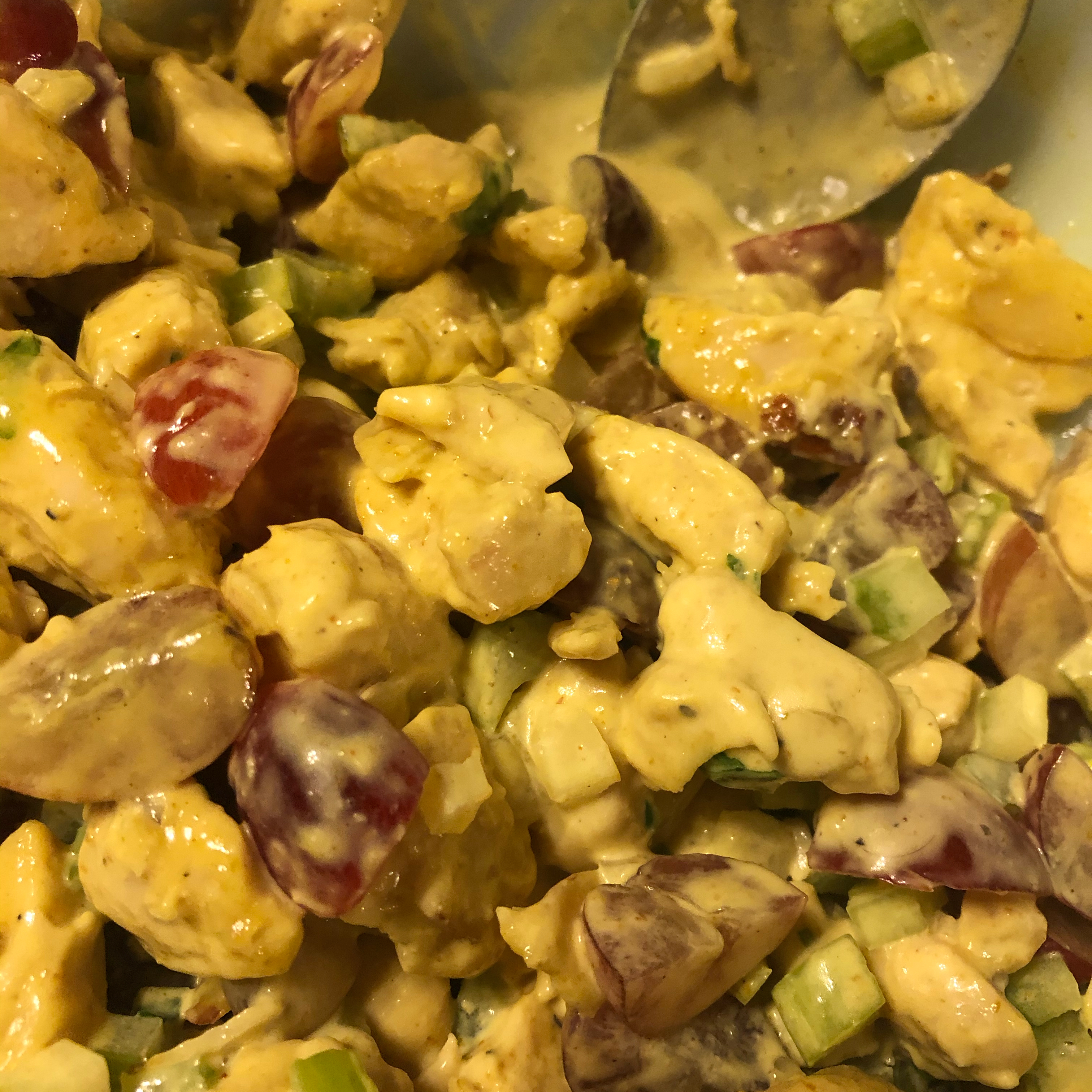 Curry Chicken Salad with Grapes Melissa Siwiec