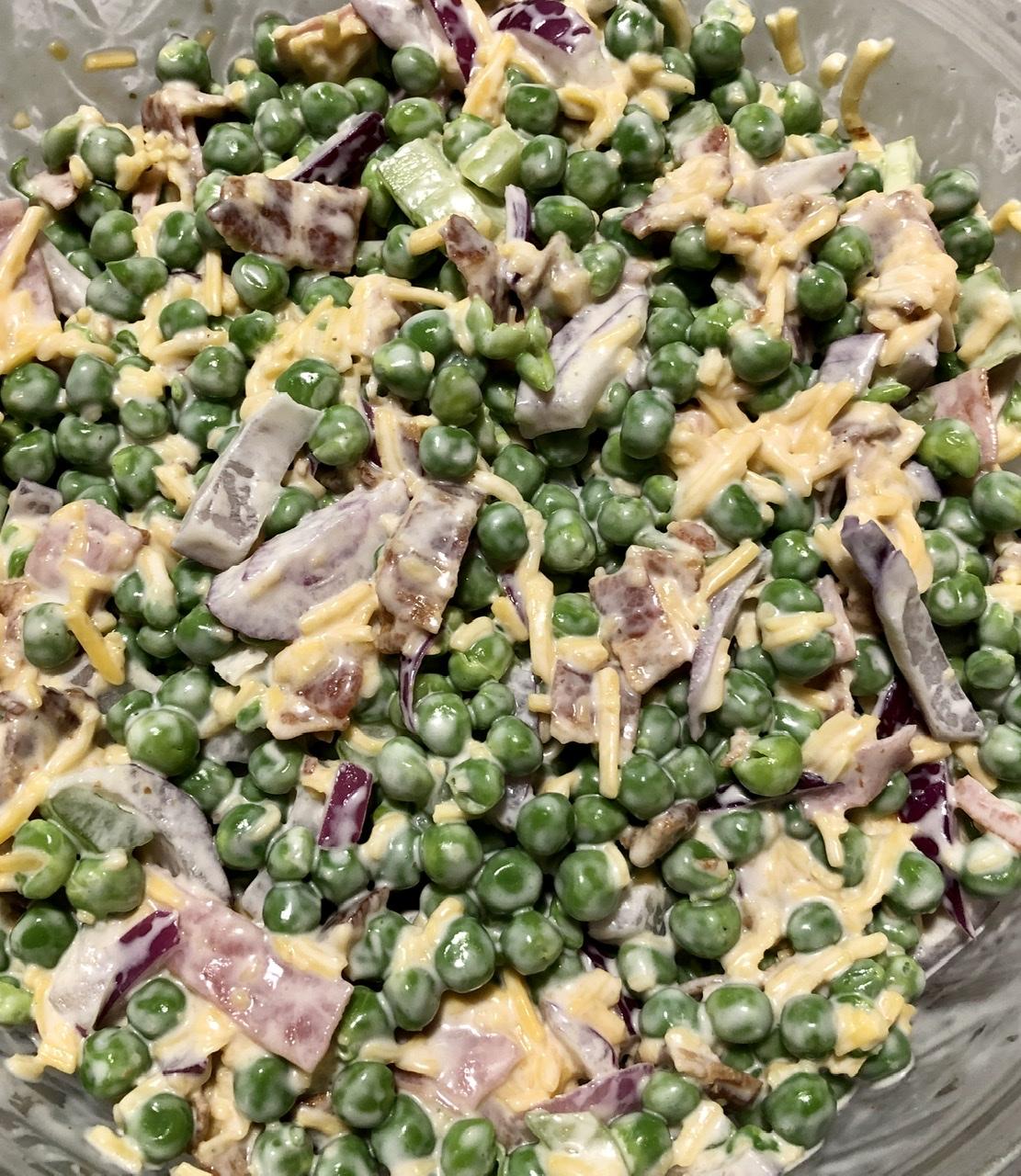 Bacon Ranch Pea Salad