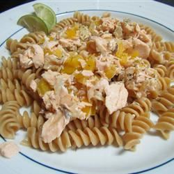 Easy Grilled Salmon Pasta