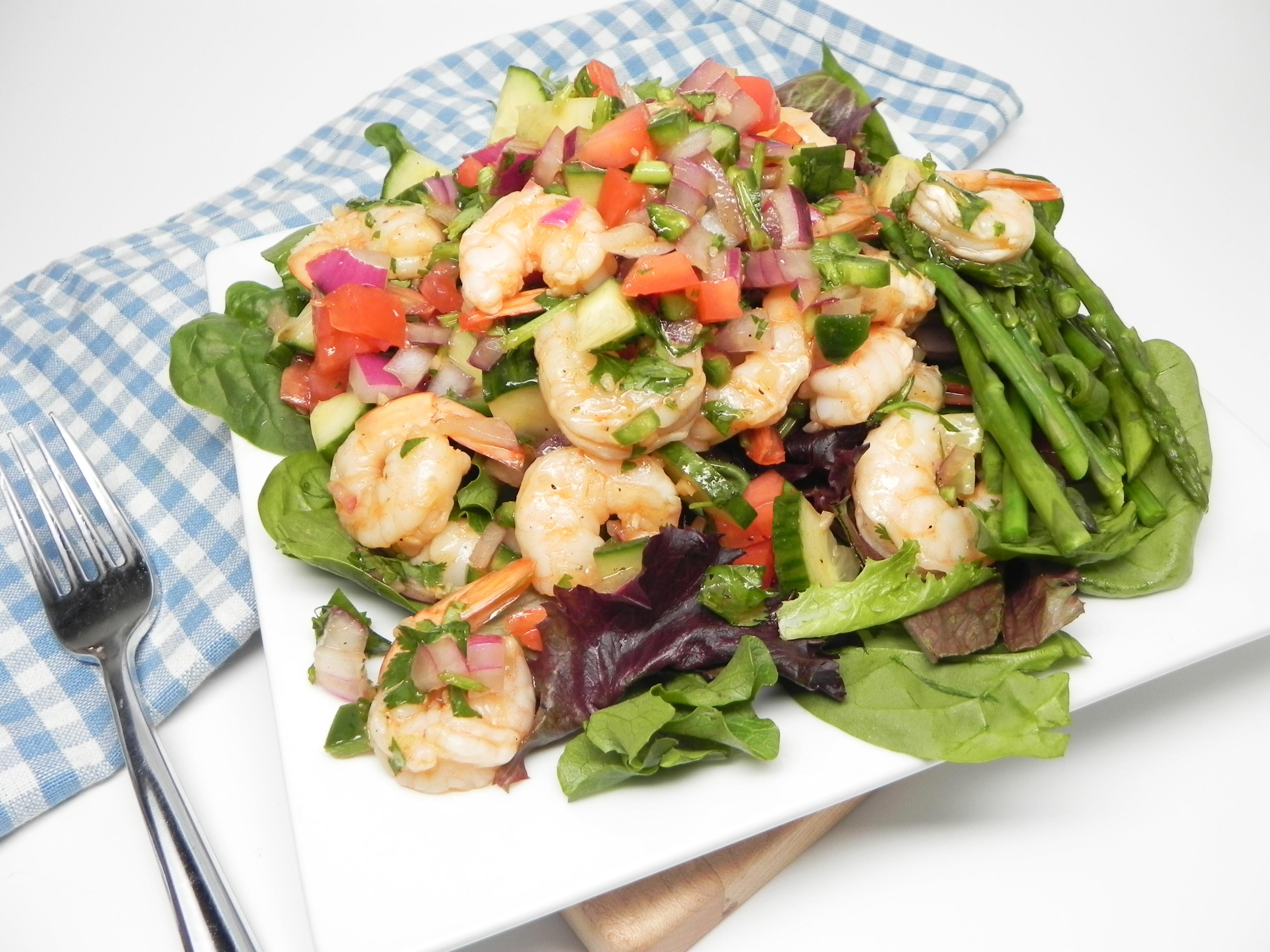 Gazpacho Salad with Shrimp