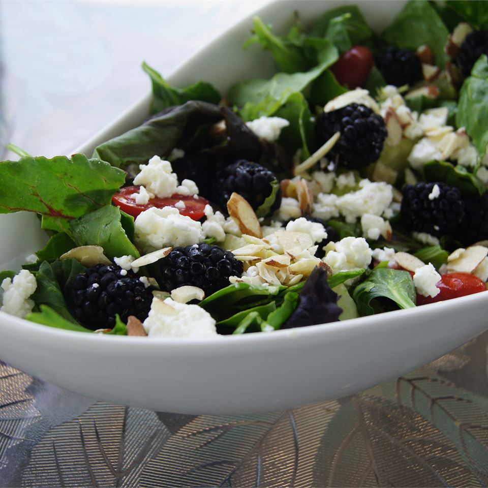 Blackberry Spinach Salad Karyn Ulriksen