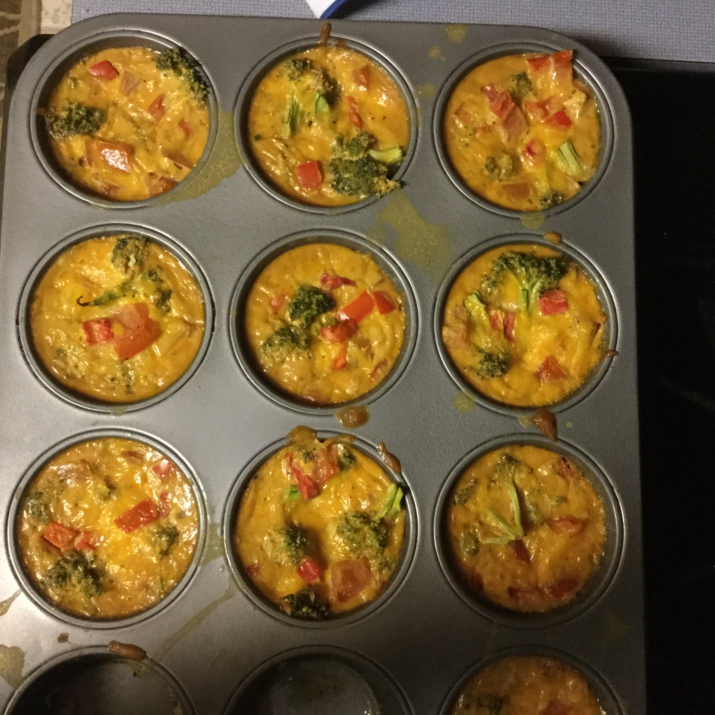 Crustless Broccoli and Cheddar Mini Quiches