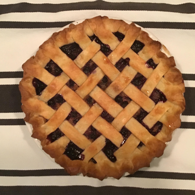 Old-Fashioned Blueberry Custard Pie Brian